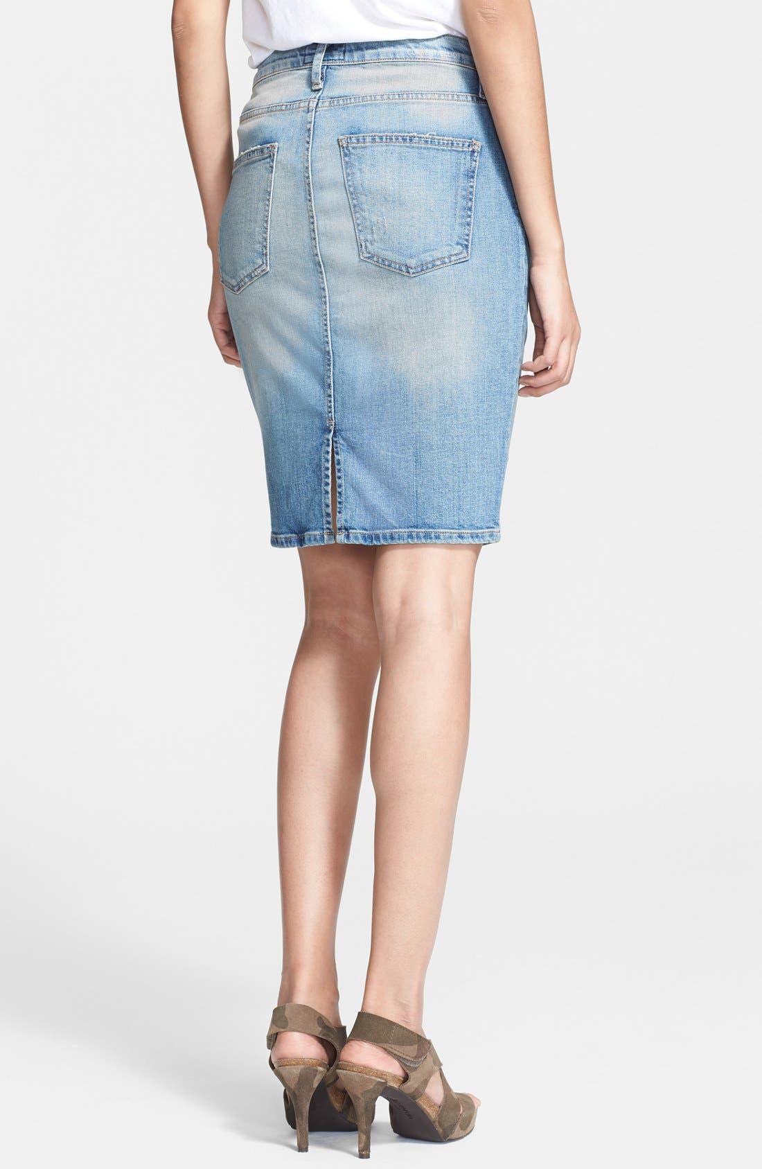 Alternate Image 2  - Current/Elliott 'The Stiletto' Denim Pencil Skirt