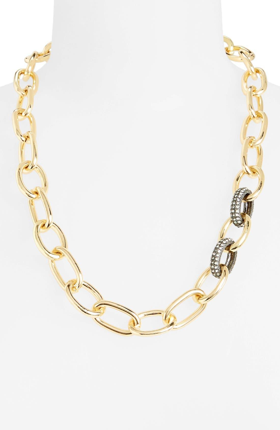 Main Image - Panacea Pavé Chain Link Necklace