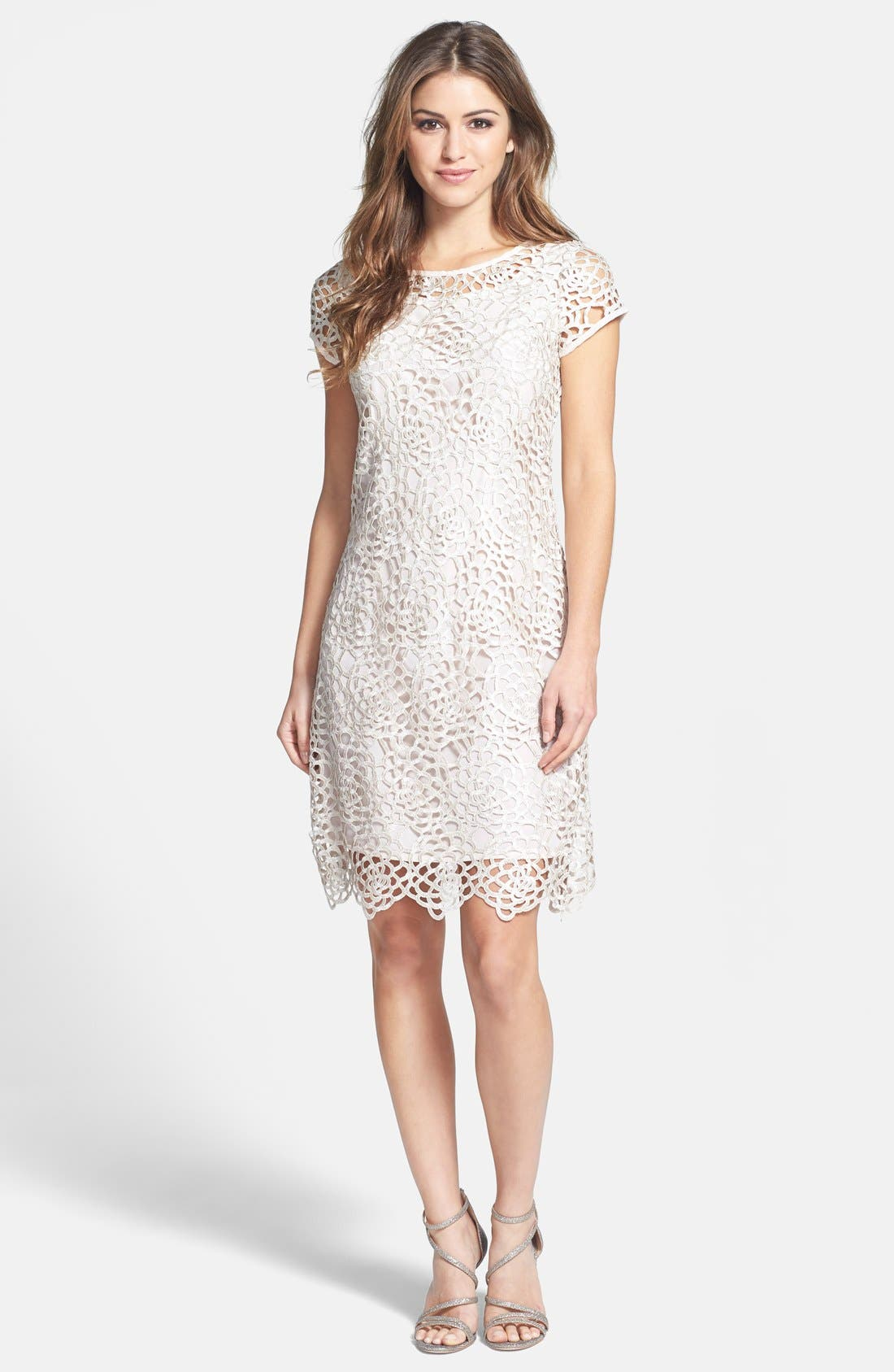 Alternate Image 3  - Marina Lattice Lace Shift Dress
