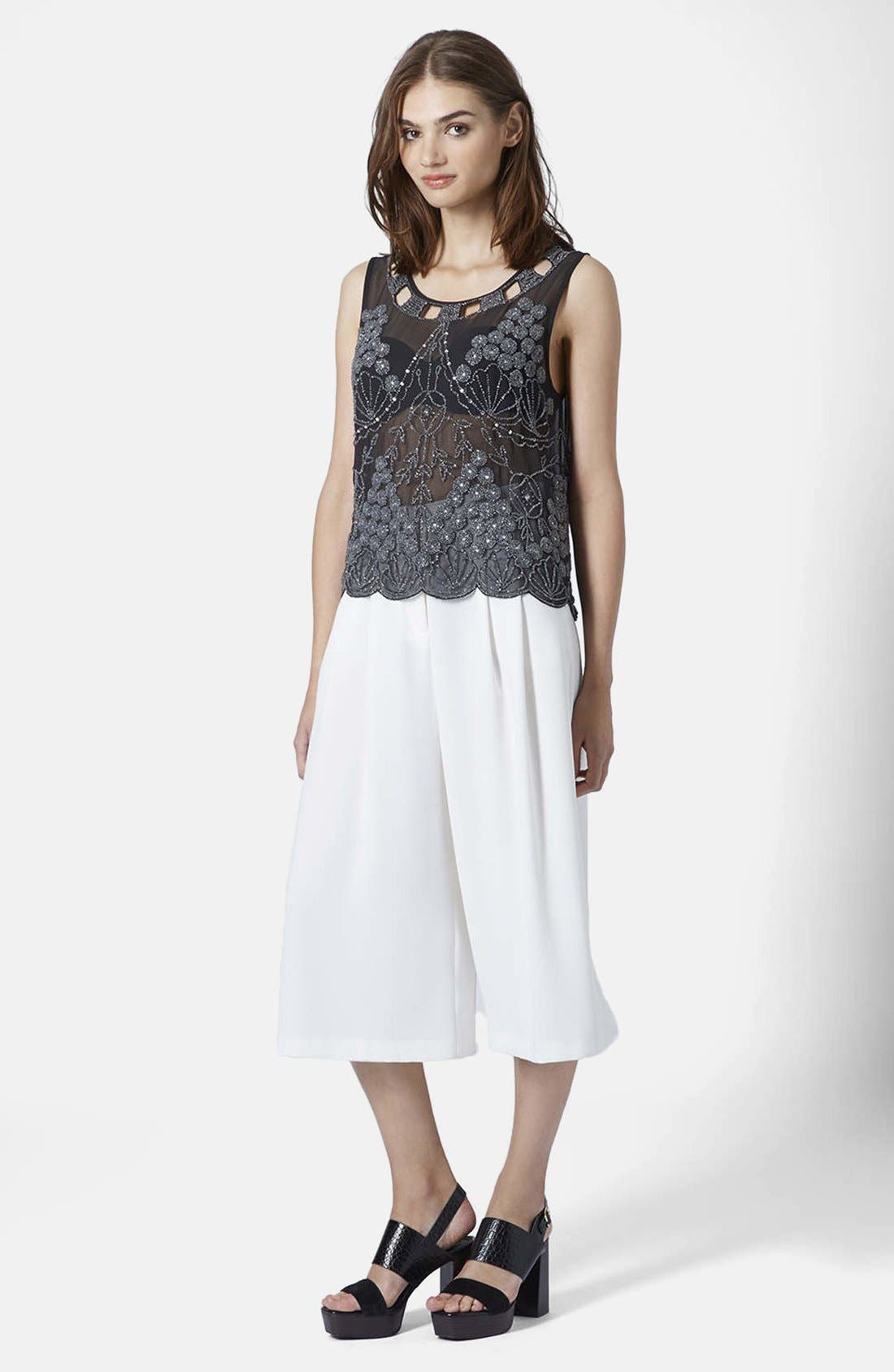 Alternate Image 5  - Topshop Embellished Sheer Sleeveless Top