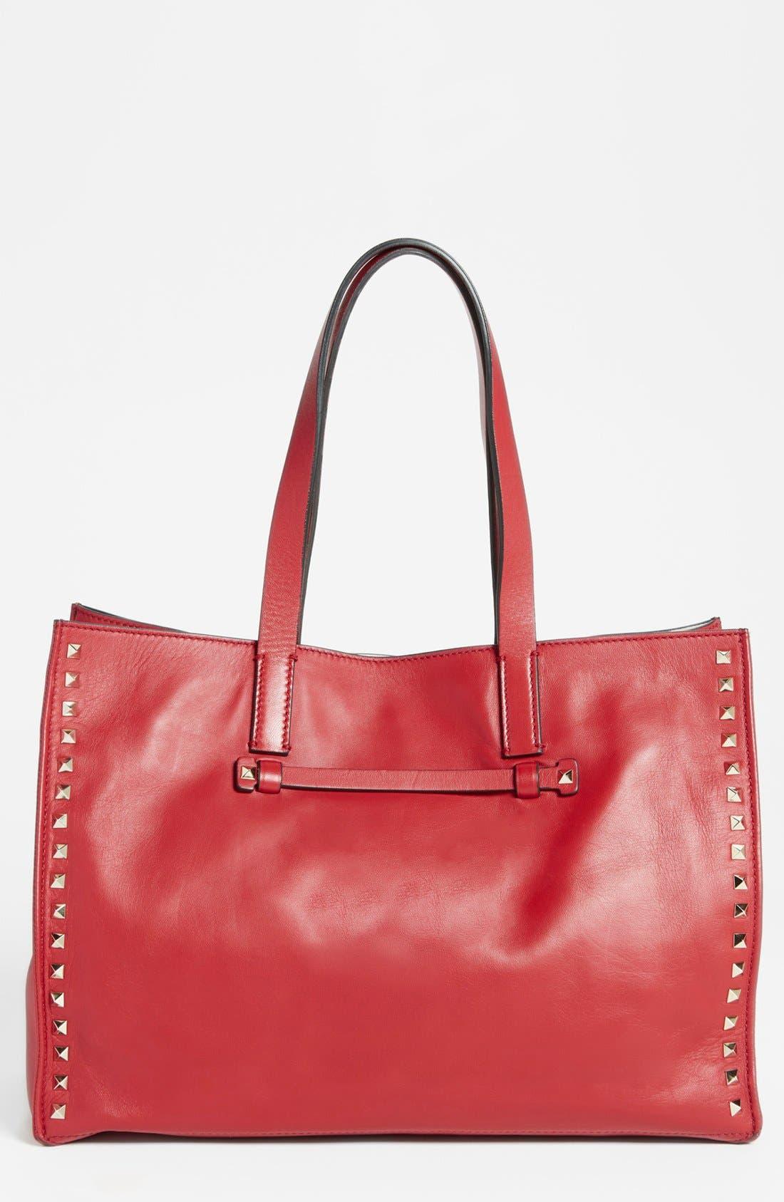 Alternate Image 1 Selected - Valentino 'Medium Rockstud' Leather Tote