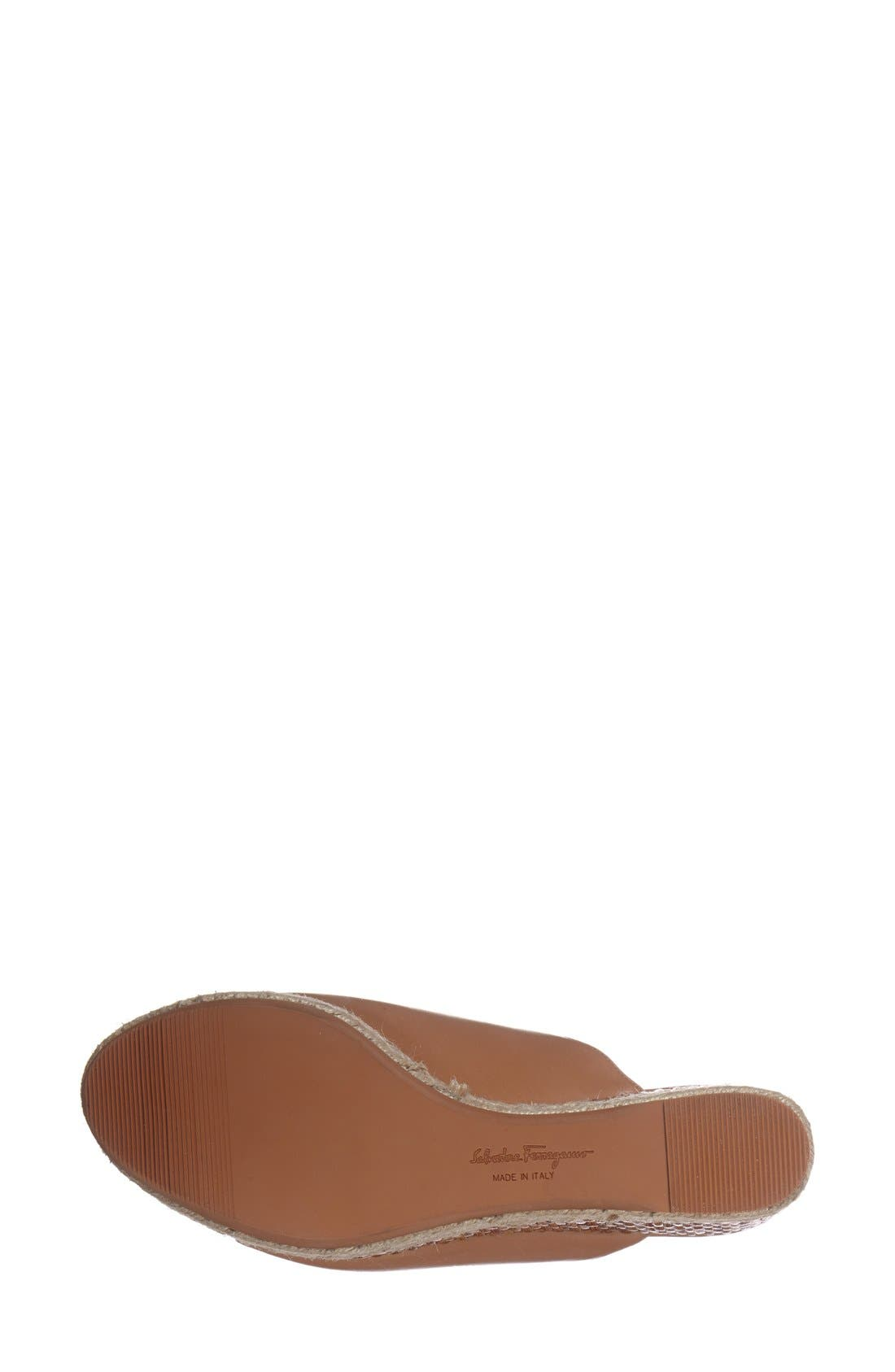 Alternate Image 4  - Salvatore Ferragamo 'Maimei' Wedge Sandal (Women)