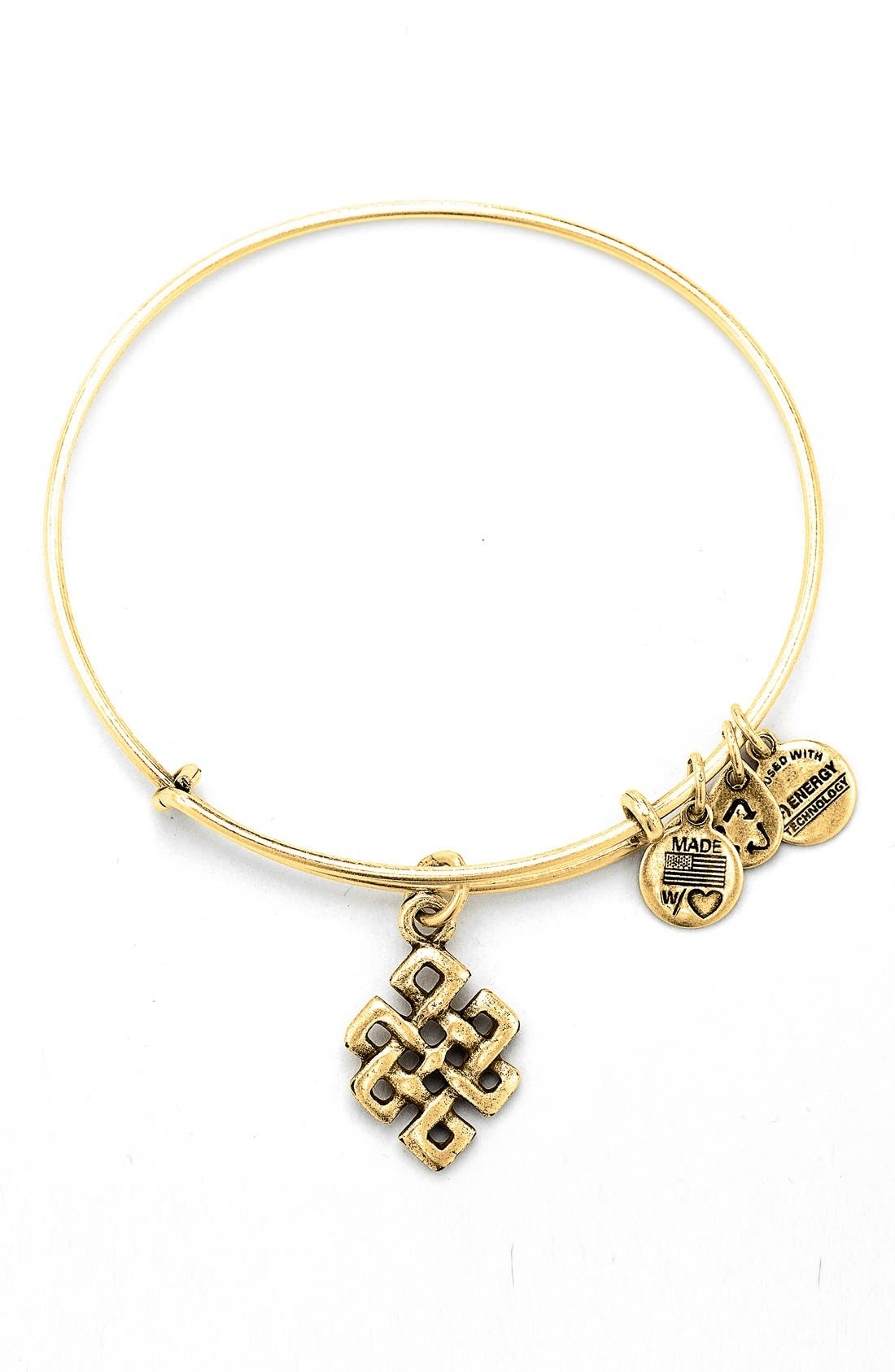 Main Image - Alex and Ani 'Endless Knot' Expandable Wire Bangle