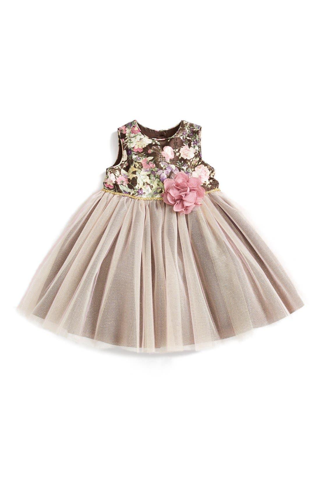 Laura Ashley Tapestry Print Tutu Dress Baby Girls