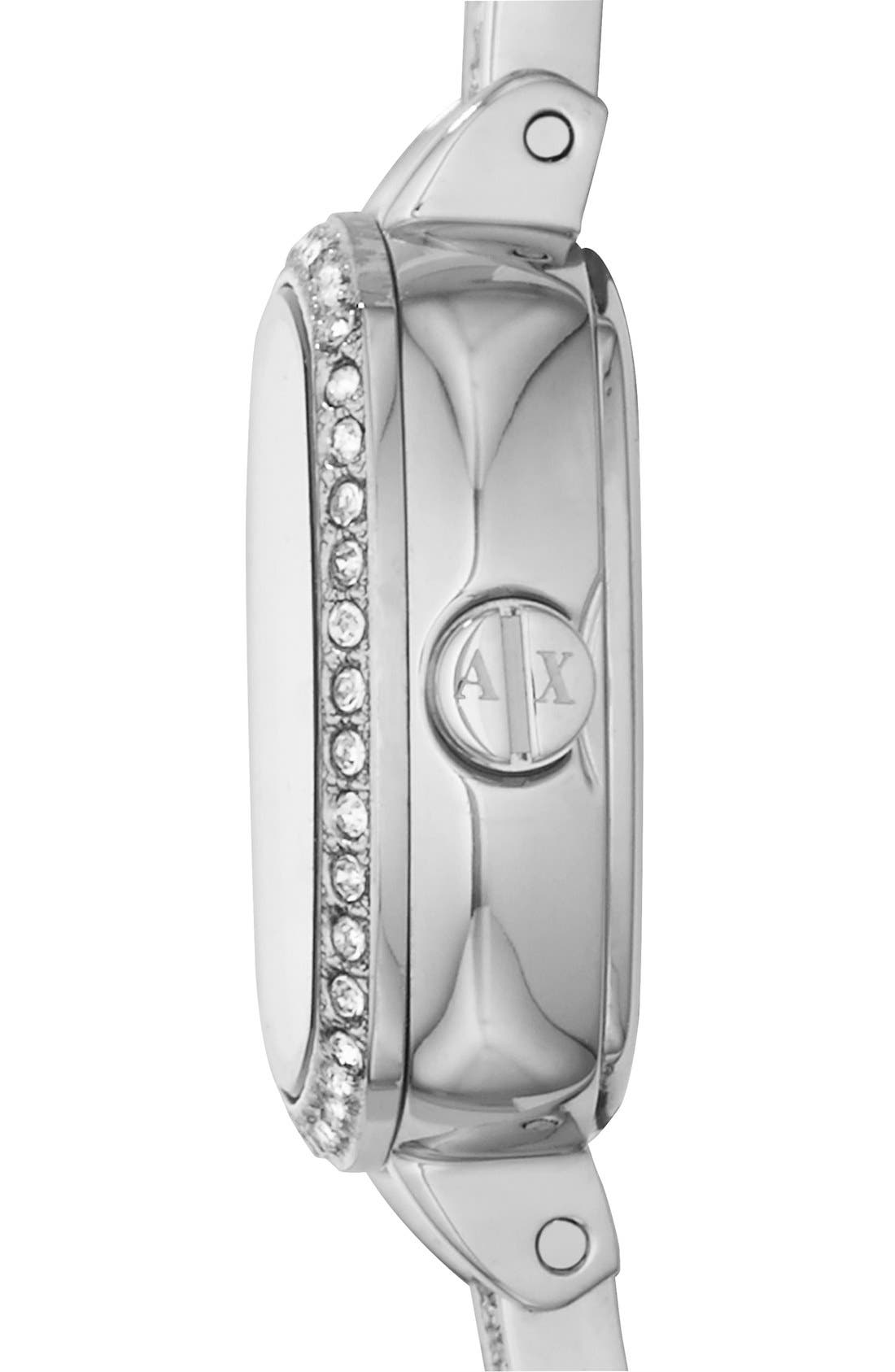 Alternate Image 3  - AX Armani Exchange Crystal Encrusted Bangle Watch, 22mm