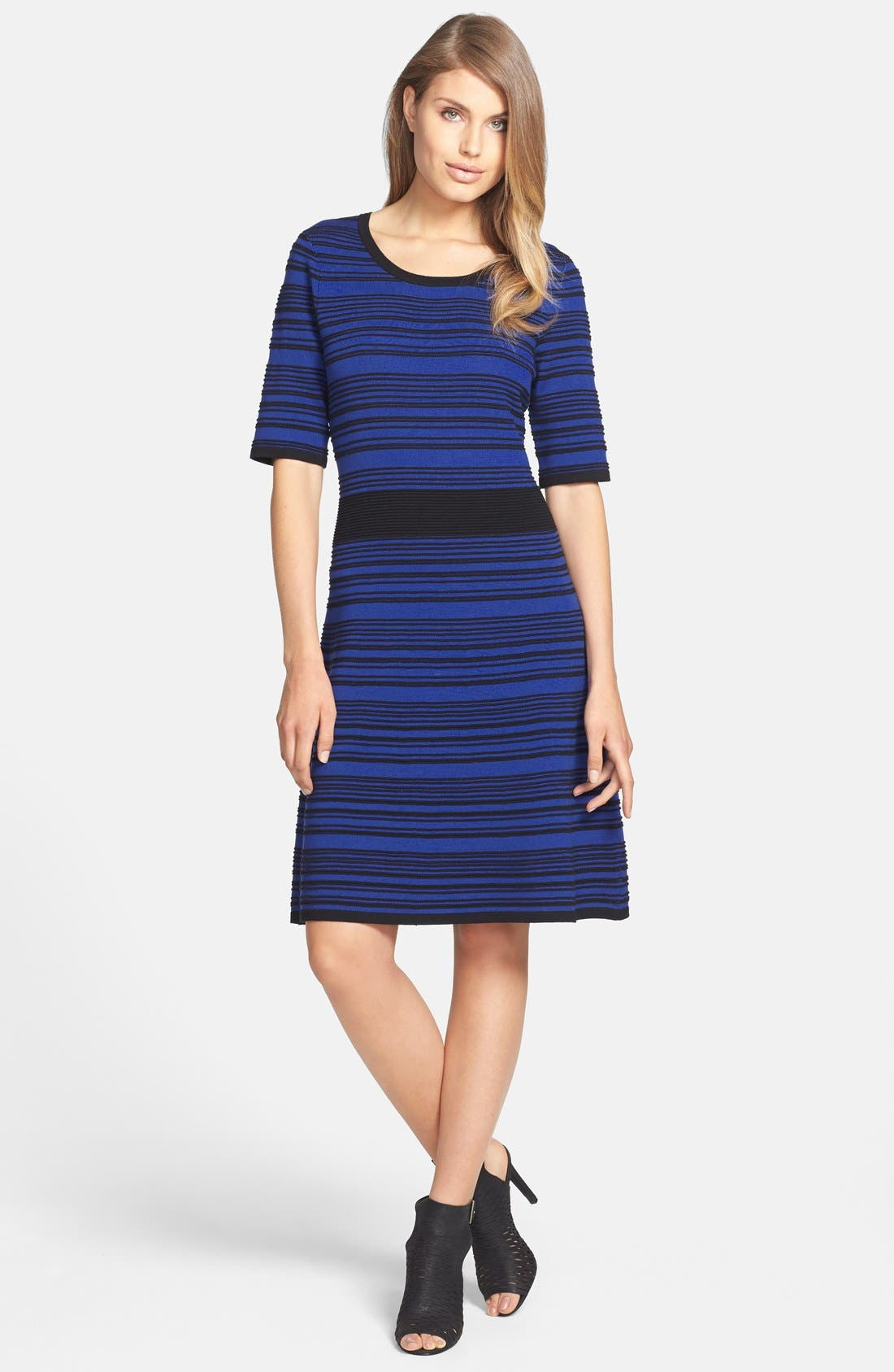 Alternate Image 3  - Taylor Dresses Ribbed Sweater Dress