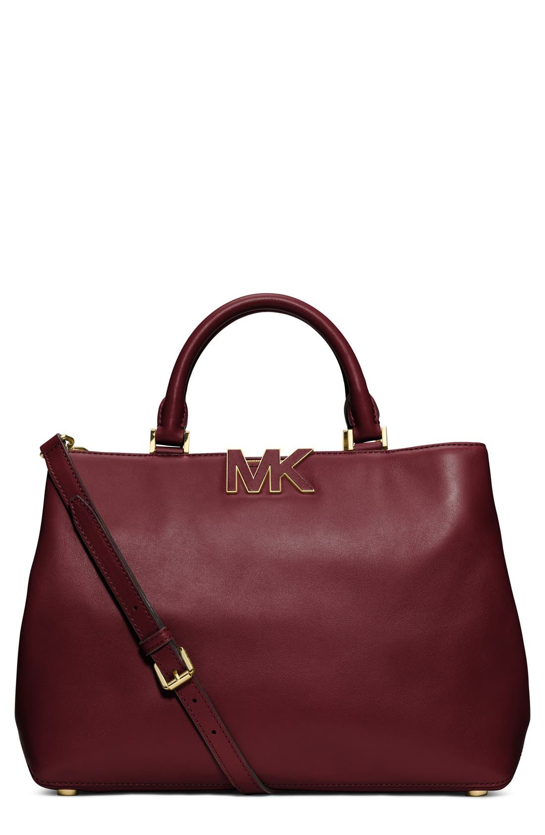 Main Image - MICHAEL Michael Kors 'Large Florence' Leather Satchel