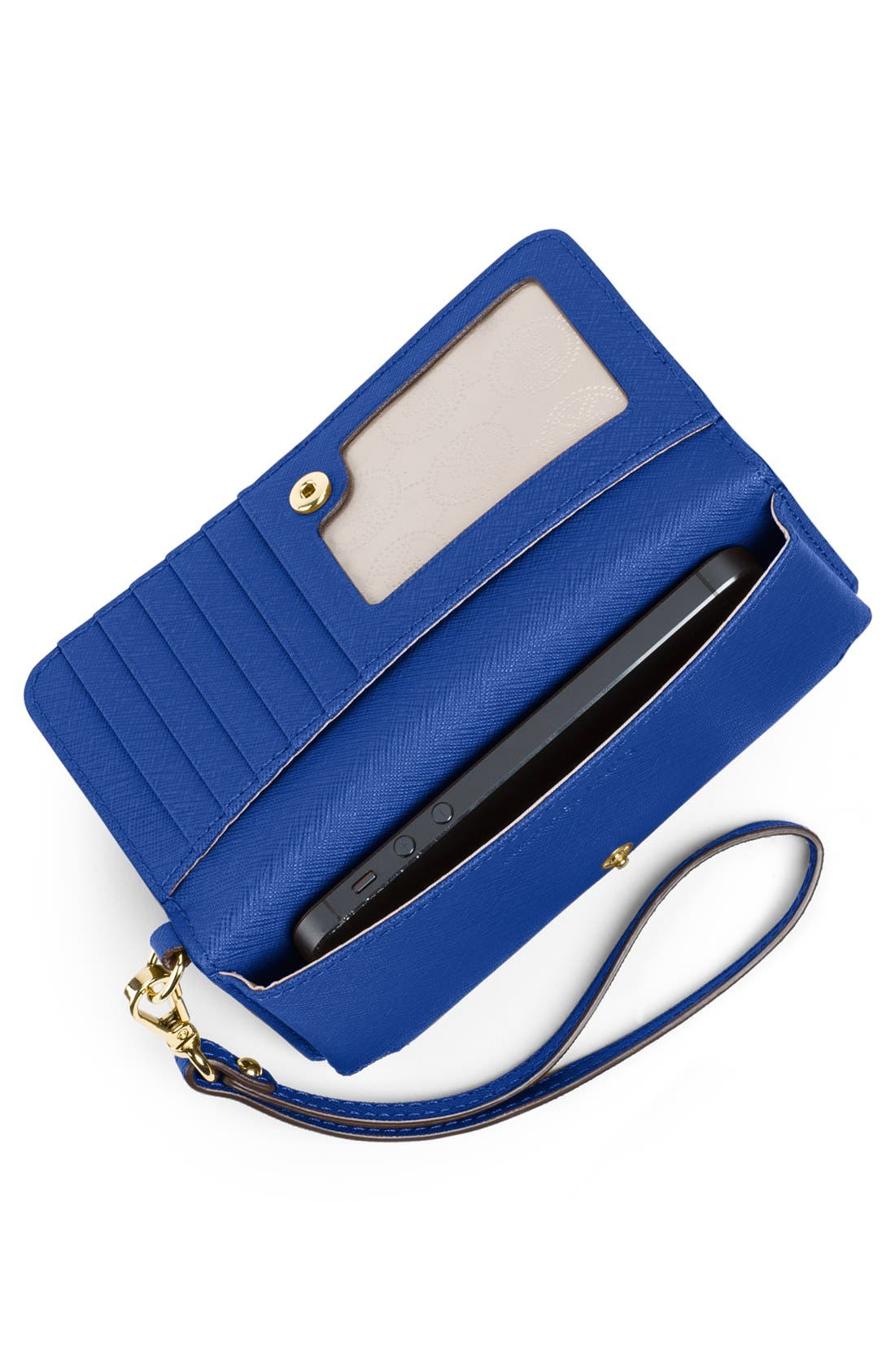 Alternate Image 2  - MICHAEL Michael Kors Saffiano Leather Phone Wallet