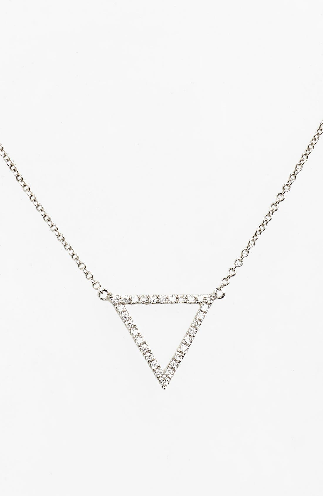 BONY LEVY 'Prism' Diamond Small Triangle Pendant Necklace