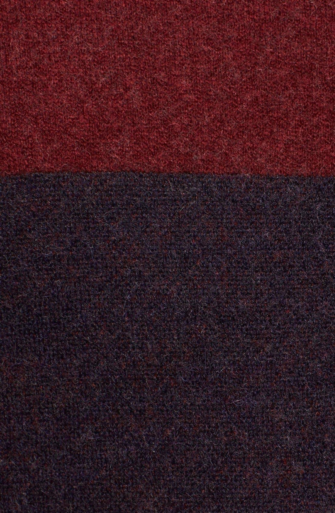 Alternate Image 4  - Burberry Brit Wool Blend Blanket Wrap