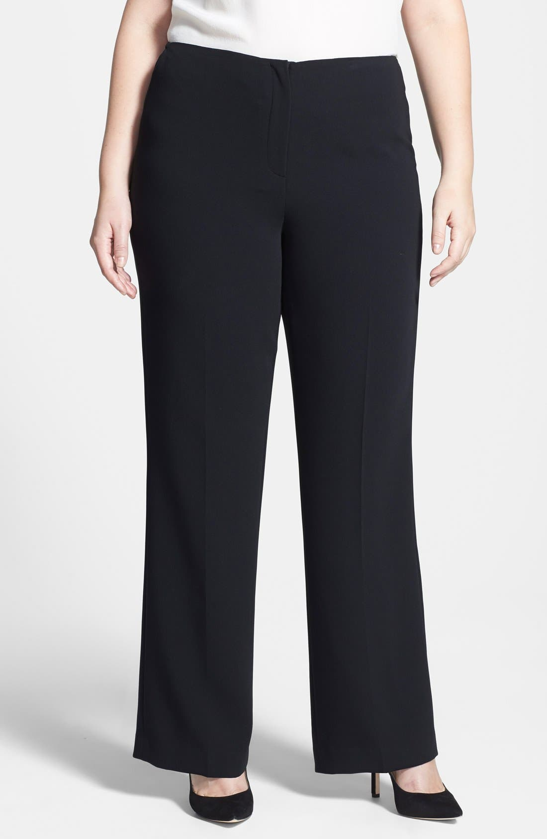 Alternate Image 1 Selected - Louben Straight Leg Pants (Plus Size)