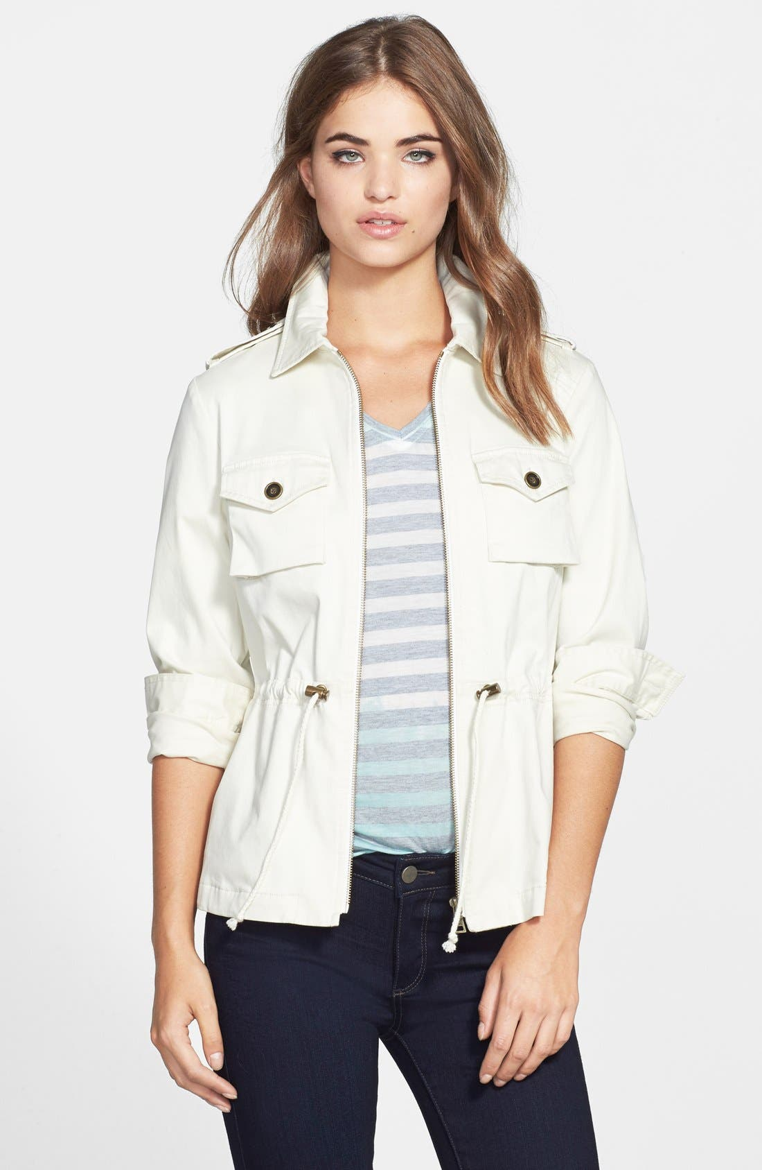 Alternate Image 1 Selected - Two by Vince Camuto Washed Sateen Cargo Jacket