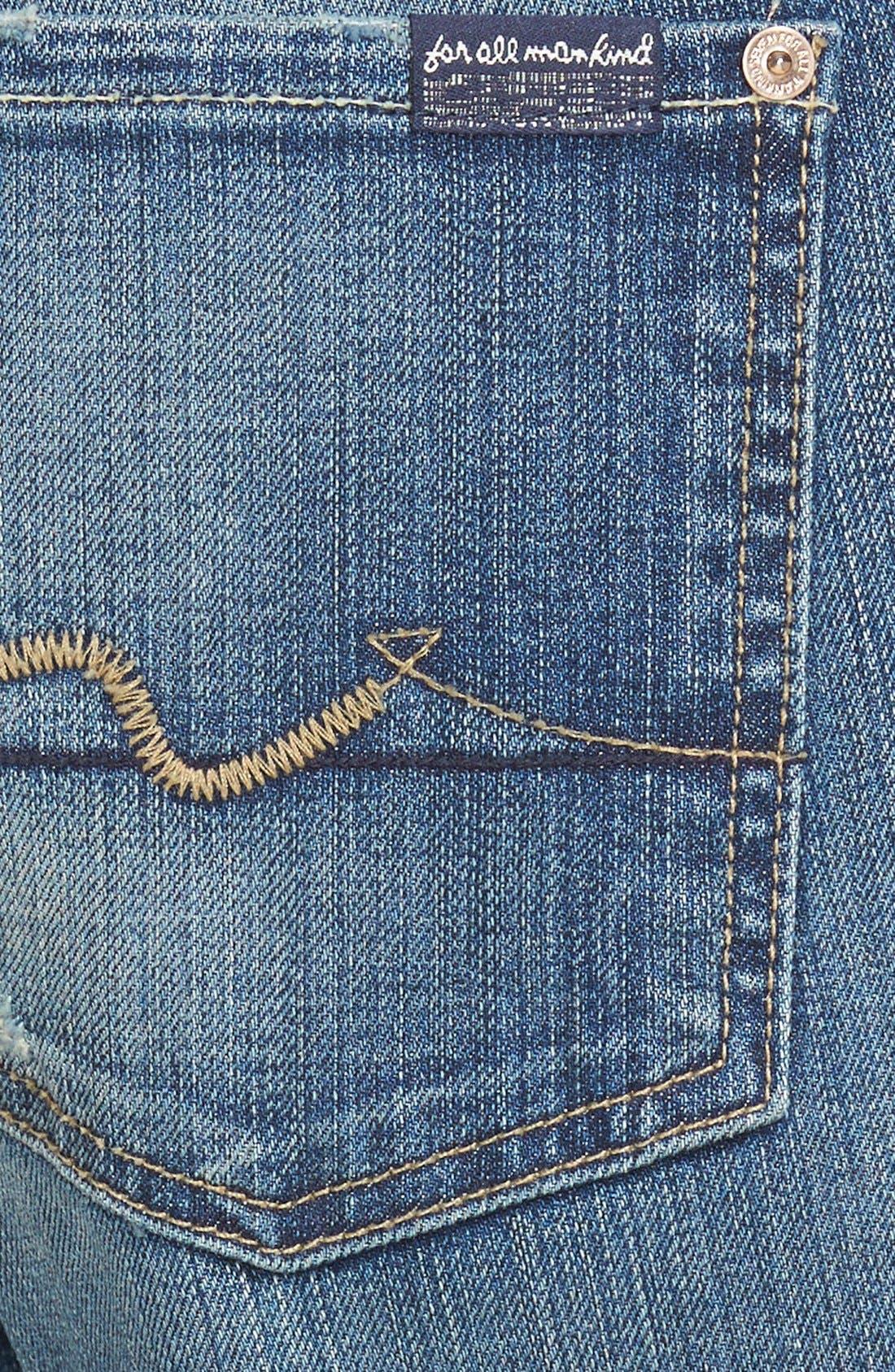Alternate Image 3  - 7 For All Mankind® 'Josefina' Boyfriend Jeans (Dusty Vintage Blue)