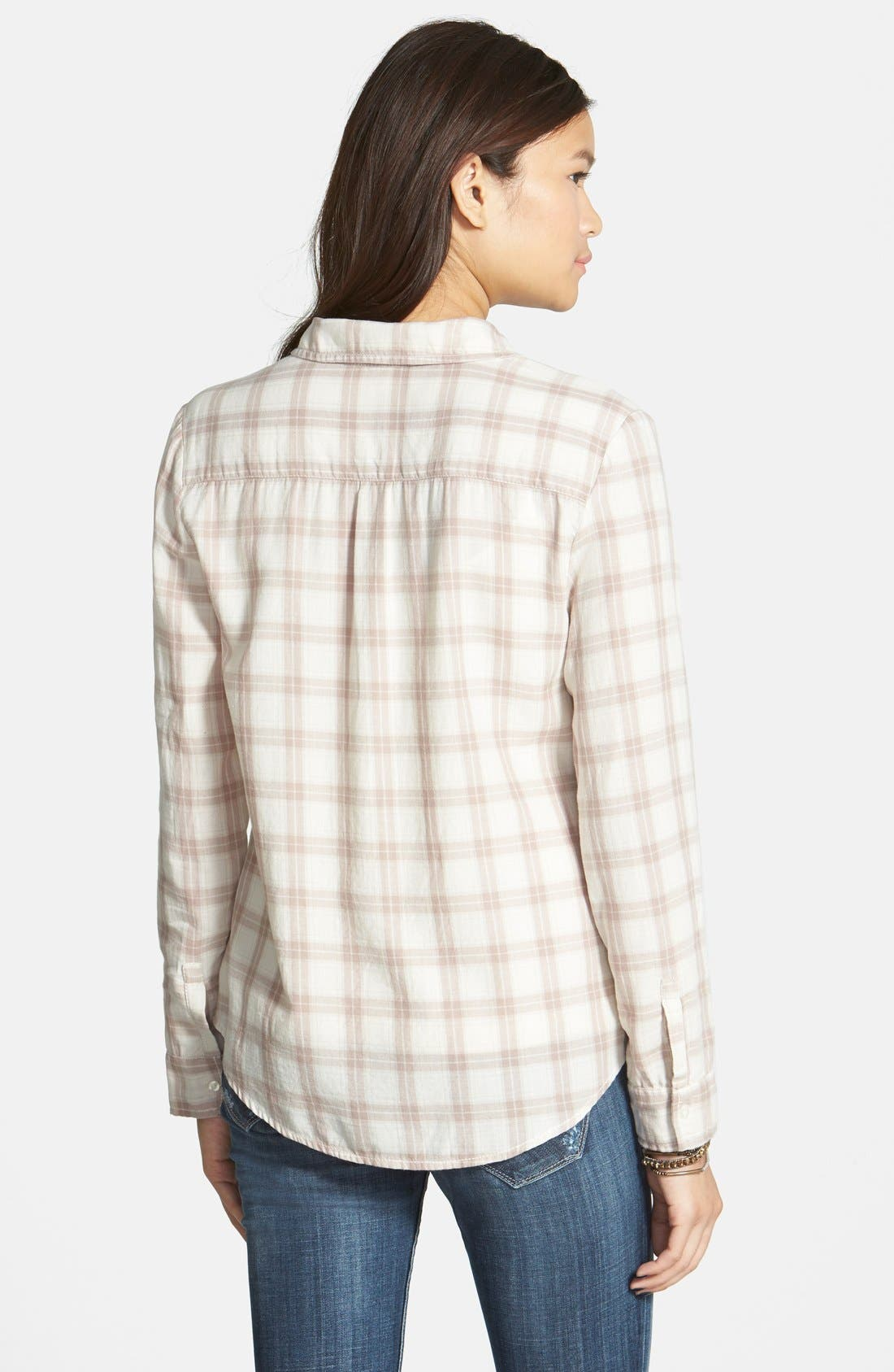 Alternate Image 2  - BP. 'Easy' Plaid Shirt (Juniors)
