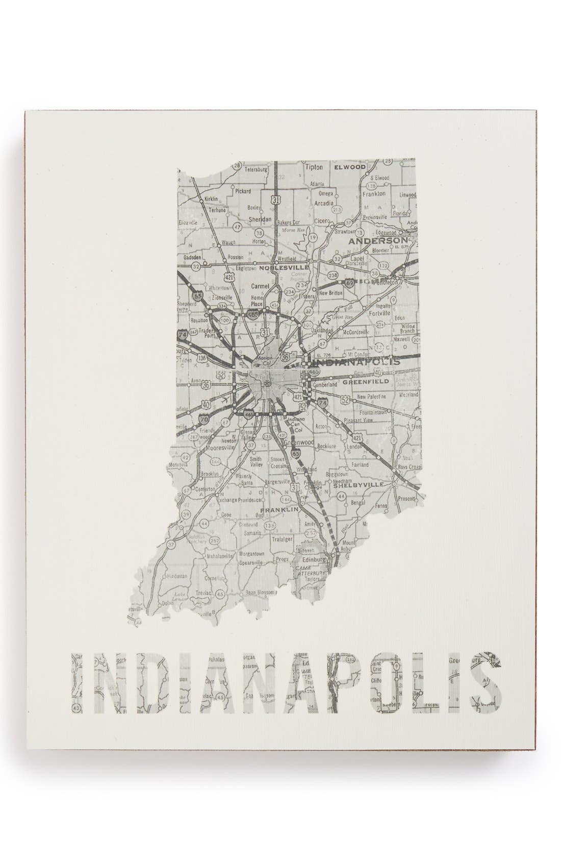 Alternate Image 1 Selected - Lucius Designs City Map Wall Art