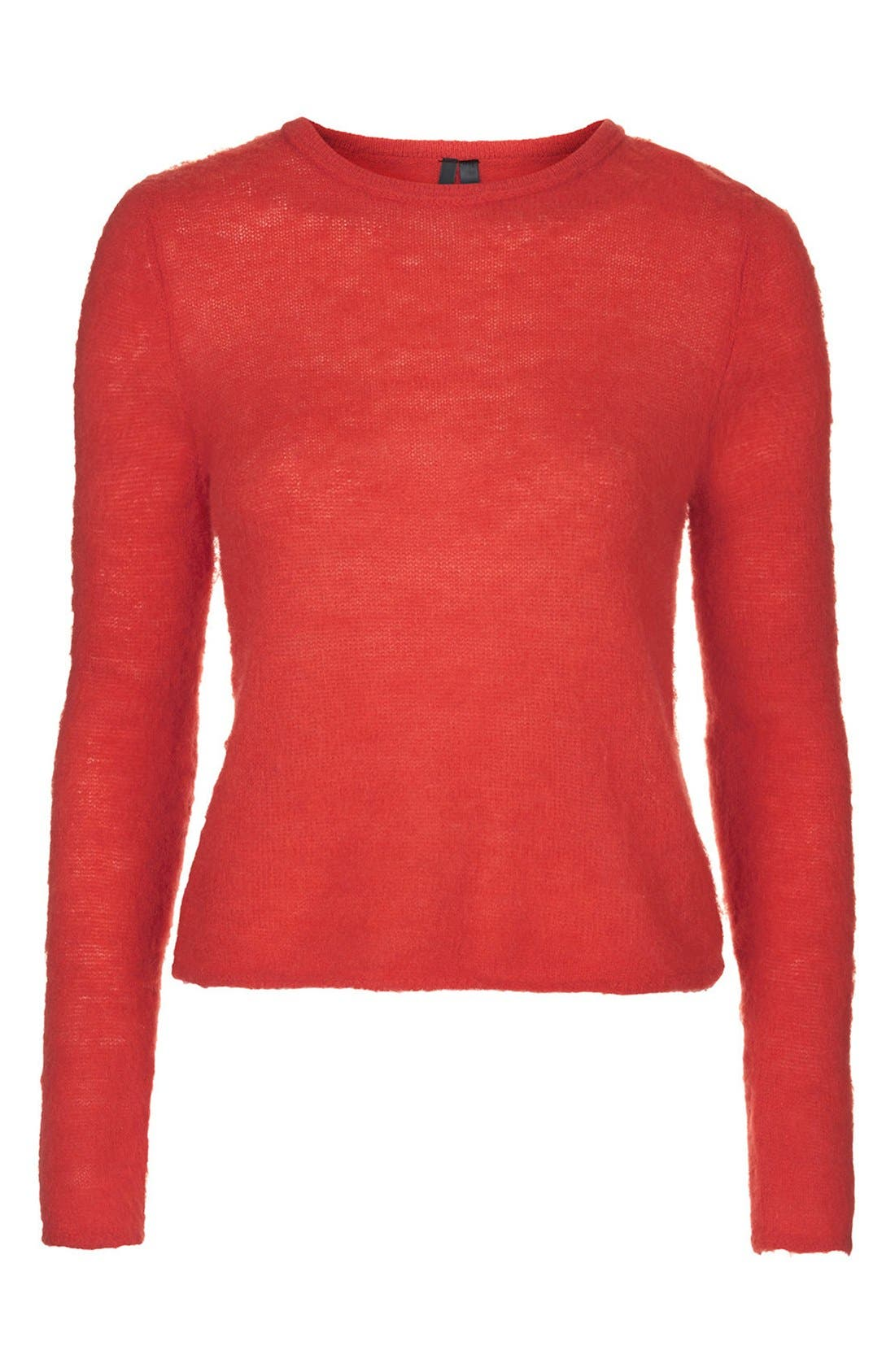 Alternate Image 3  - Topshop Boutique Fluorescent Fluffy Sweater