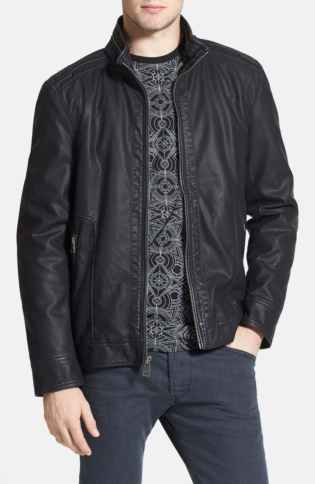Main Image - Black Rivet Faux Leather Jacket