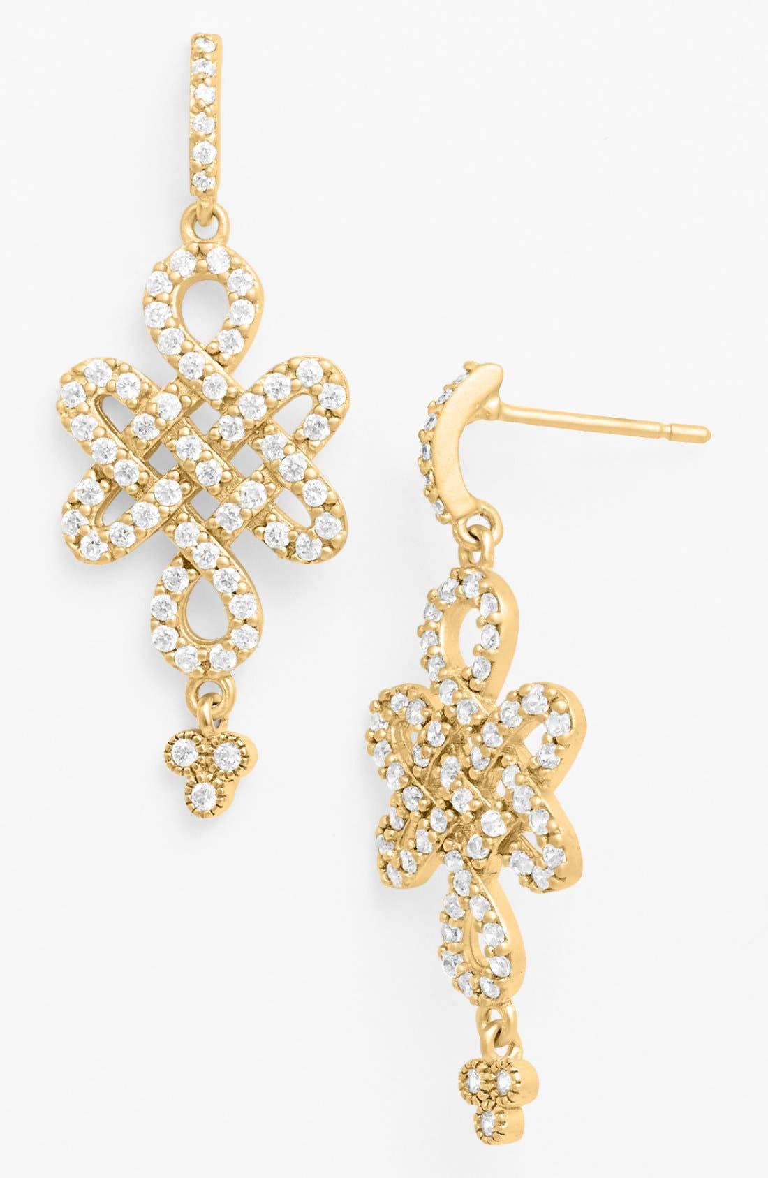 Main Image - FREIDA ROTHMAN Love Knot Drop Earrings