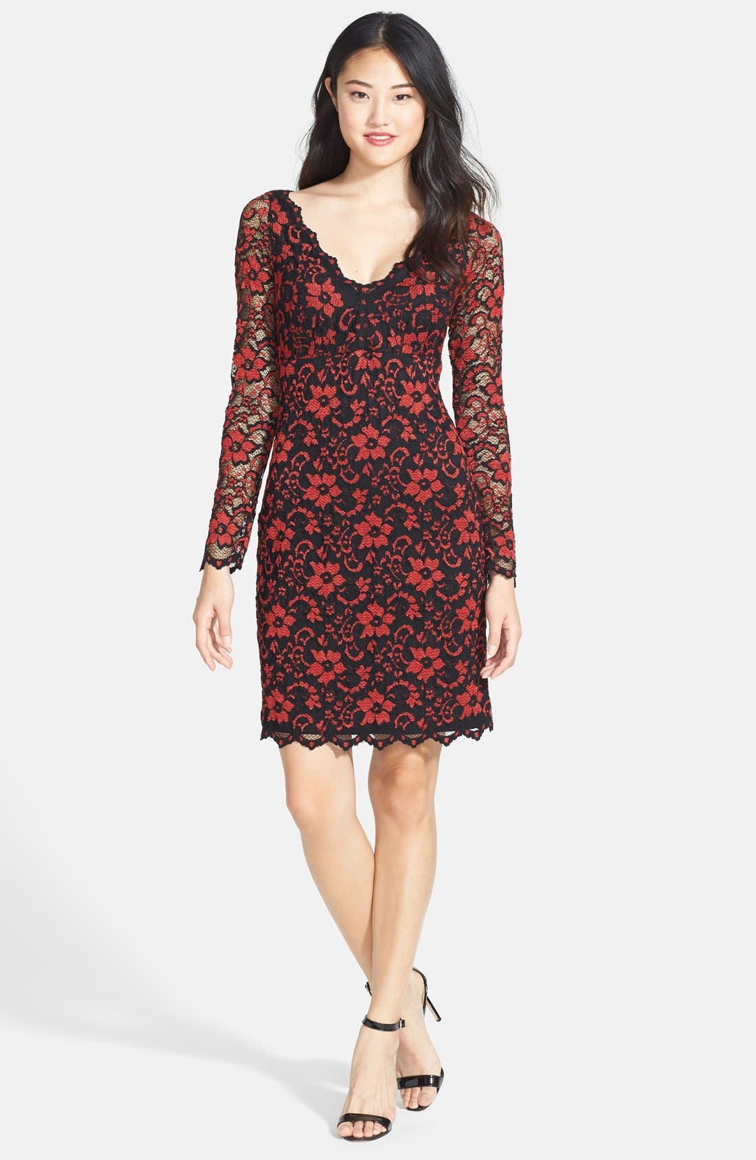 Alternate Image 4  - Karen Kane Scallop Lace Dress