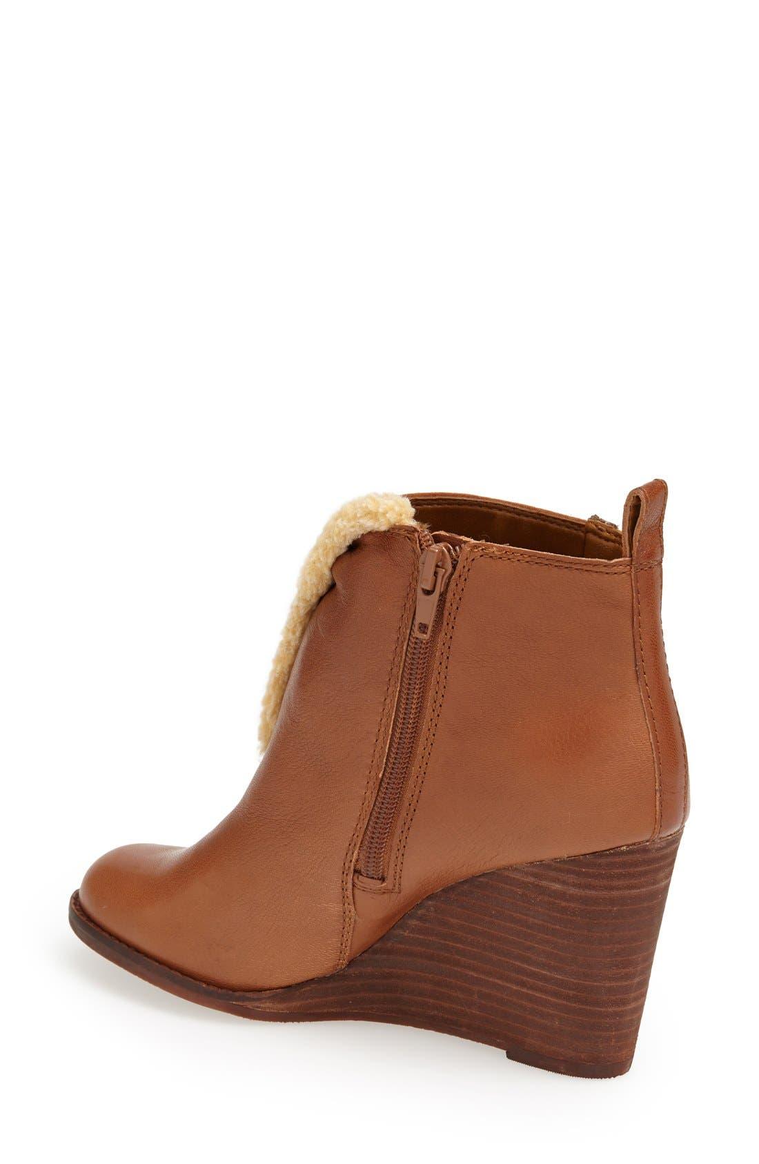 Alternate Image 2  - Lucky Brand 'Yorque' Wedge Leather Bootie (Women)