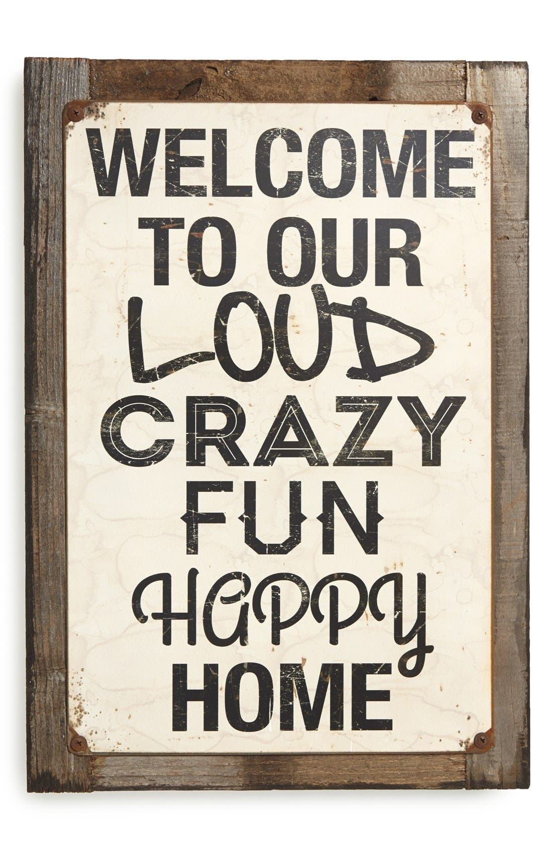 Alternate Image 1 Selected - Poncho & Goldstein 'Welcome Crazy' Sign