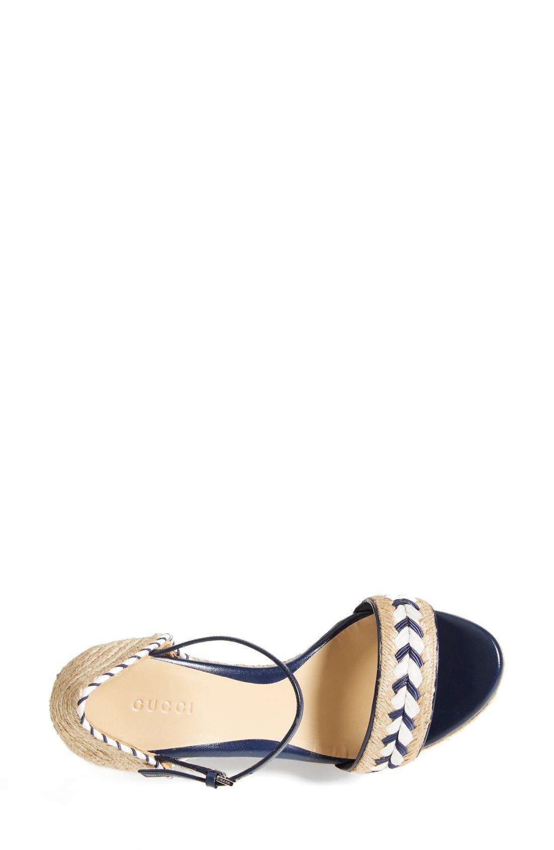 Alternate Image 3  - Gucci 'Tiffany' Wedge Sandal (Women)