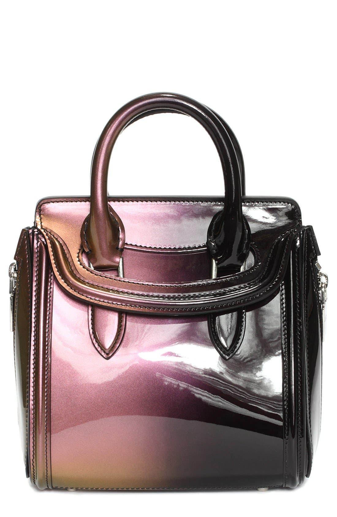 Alternate Image 1 Selected - Alexander McQueen 'Mini Heroine' Patent Leather Satchel