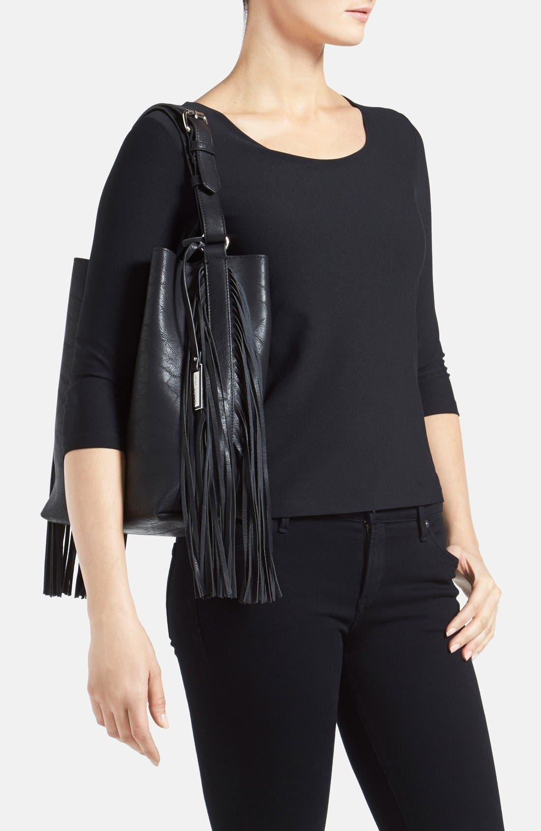 Alternate Image 2  - Urban Originals 'Avoca' Fringe Shoulder Bag