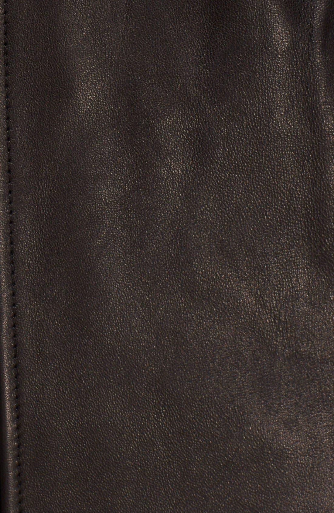 Alternate Image 3  - Diane von Furstenberg Leather Shift Dress
