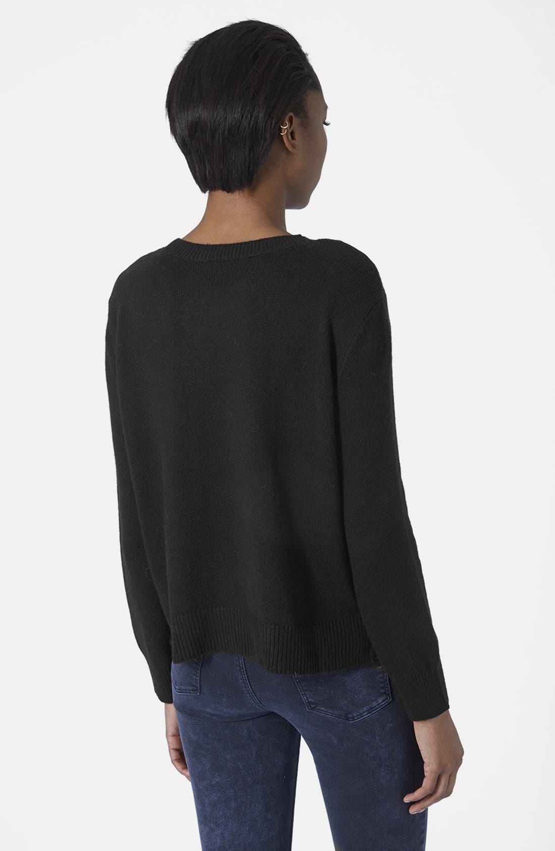 Alternate Image 2  - Topshop Sequin Spot Sweater
