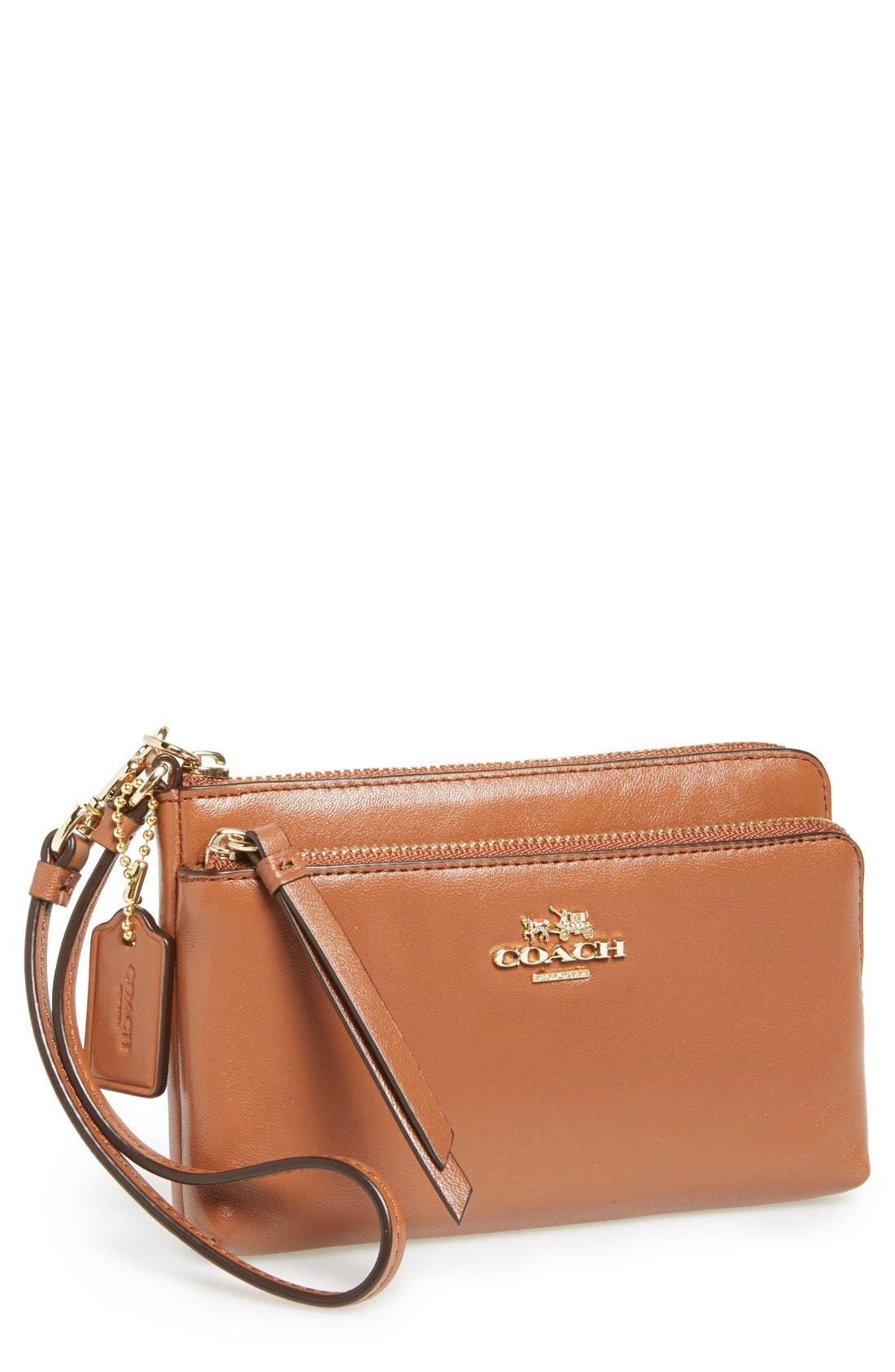 Main Image - COACH Leather Wristlet