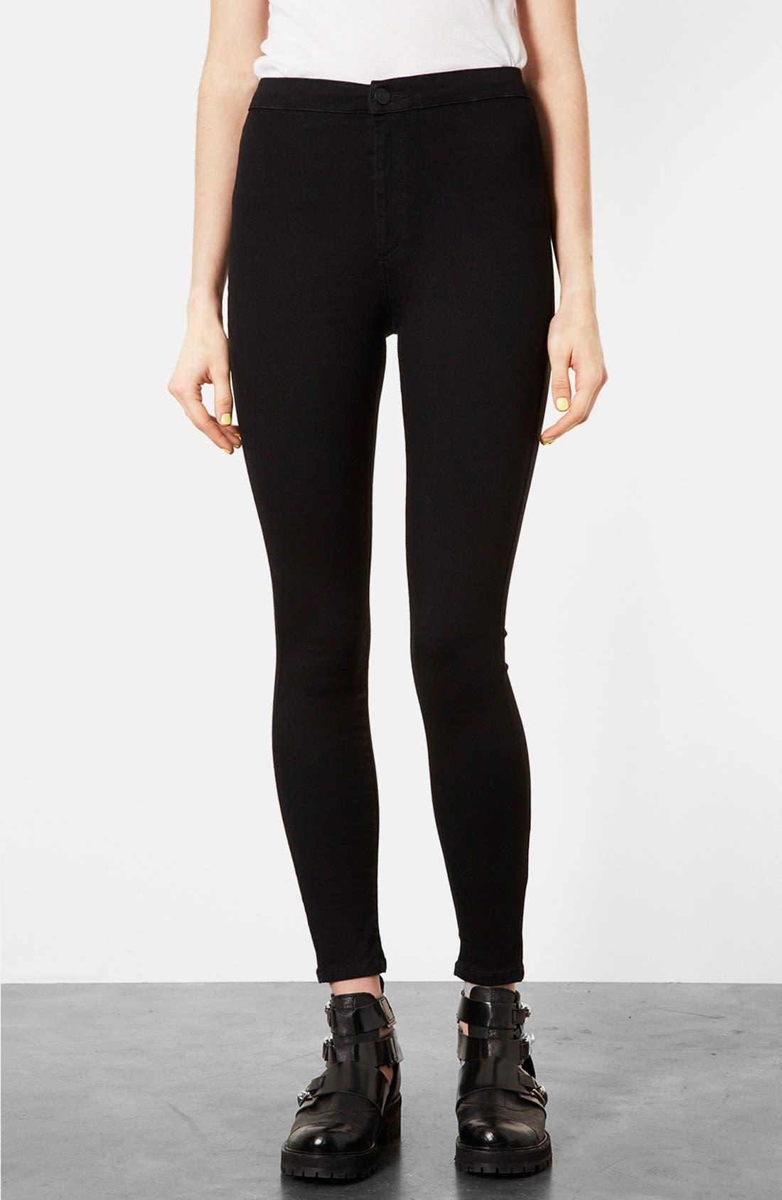Alternate Image 1 Selected - Topshop Moto 'Joni' High Rise Skinny Jeans (Black)