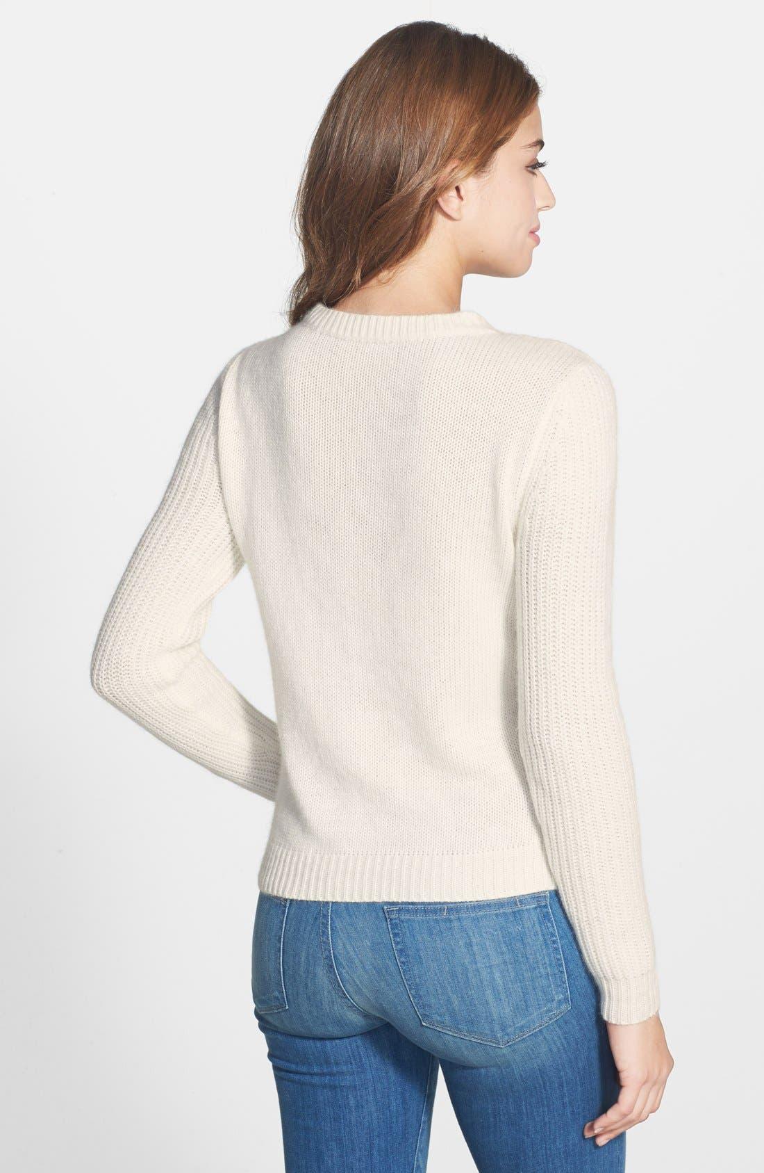 Alternate Image 2  - Caslon® Cable Knit Sweater (Regular & Petite)