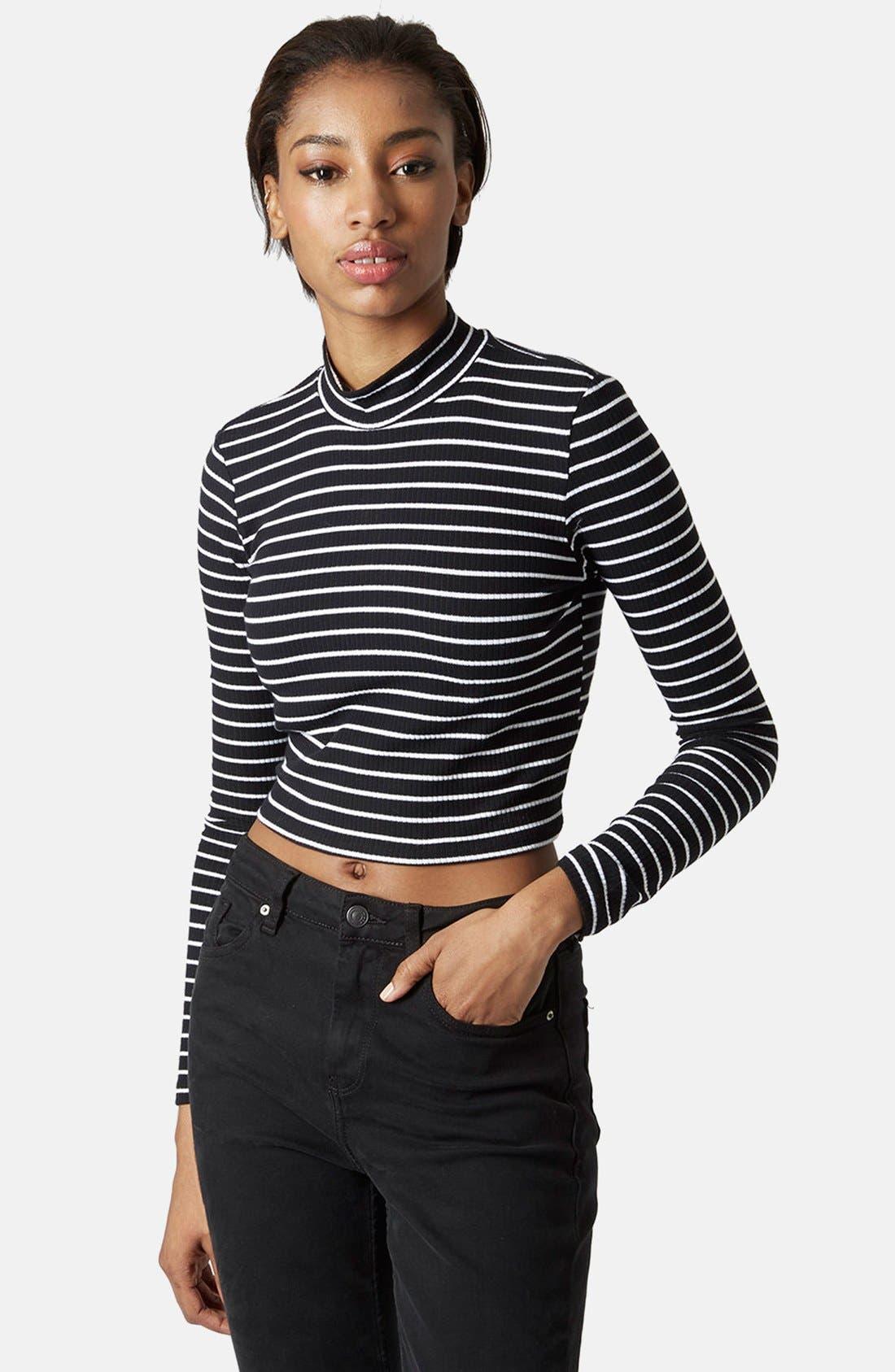 Alternate Image 1 Selected - Topshop Long Sleeve Rib Knit Top