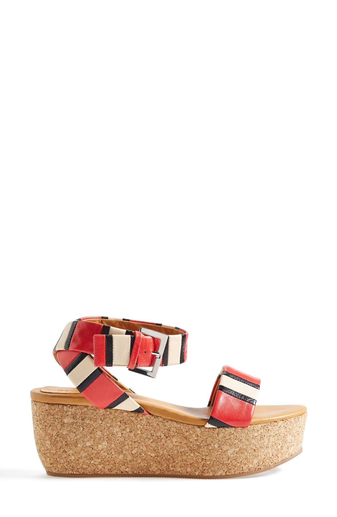Alternate Image 4  - See by Chloé 'Patti' Stripe Wedge Sandal
