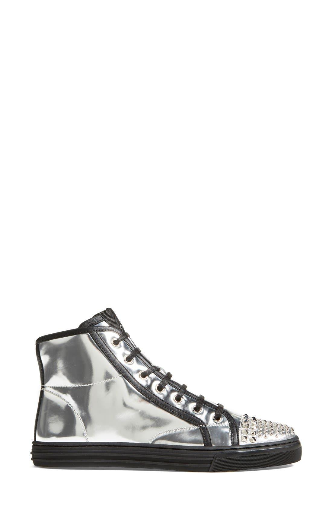 Alternate Image 4  - Gucci 'California' Studded Sneaker (Women)