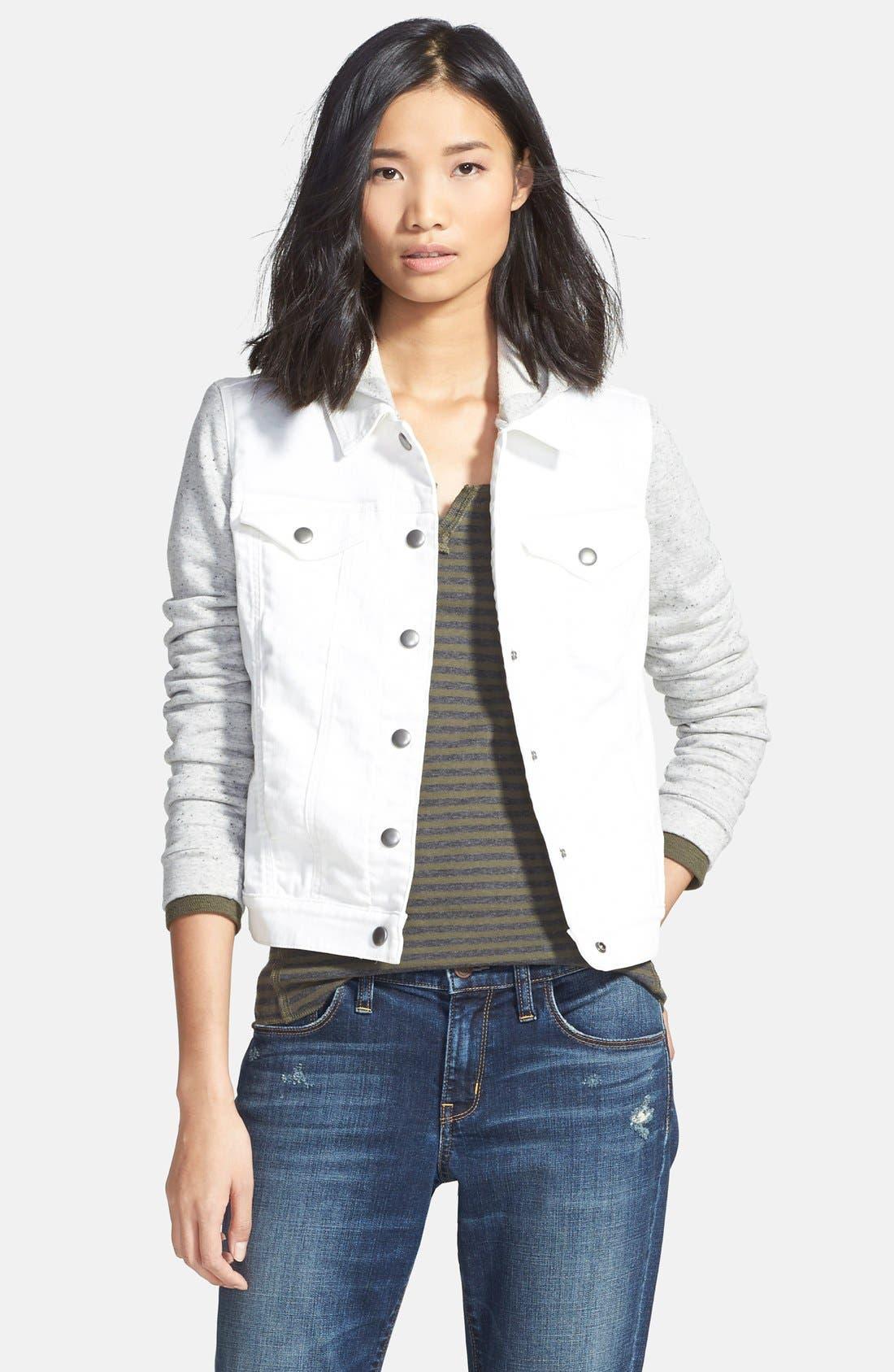 Alternate Image 1 Selected - Hinge Mixed Media Hooded Jacket