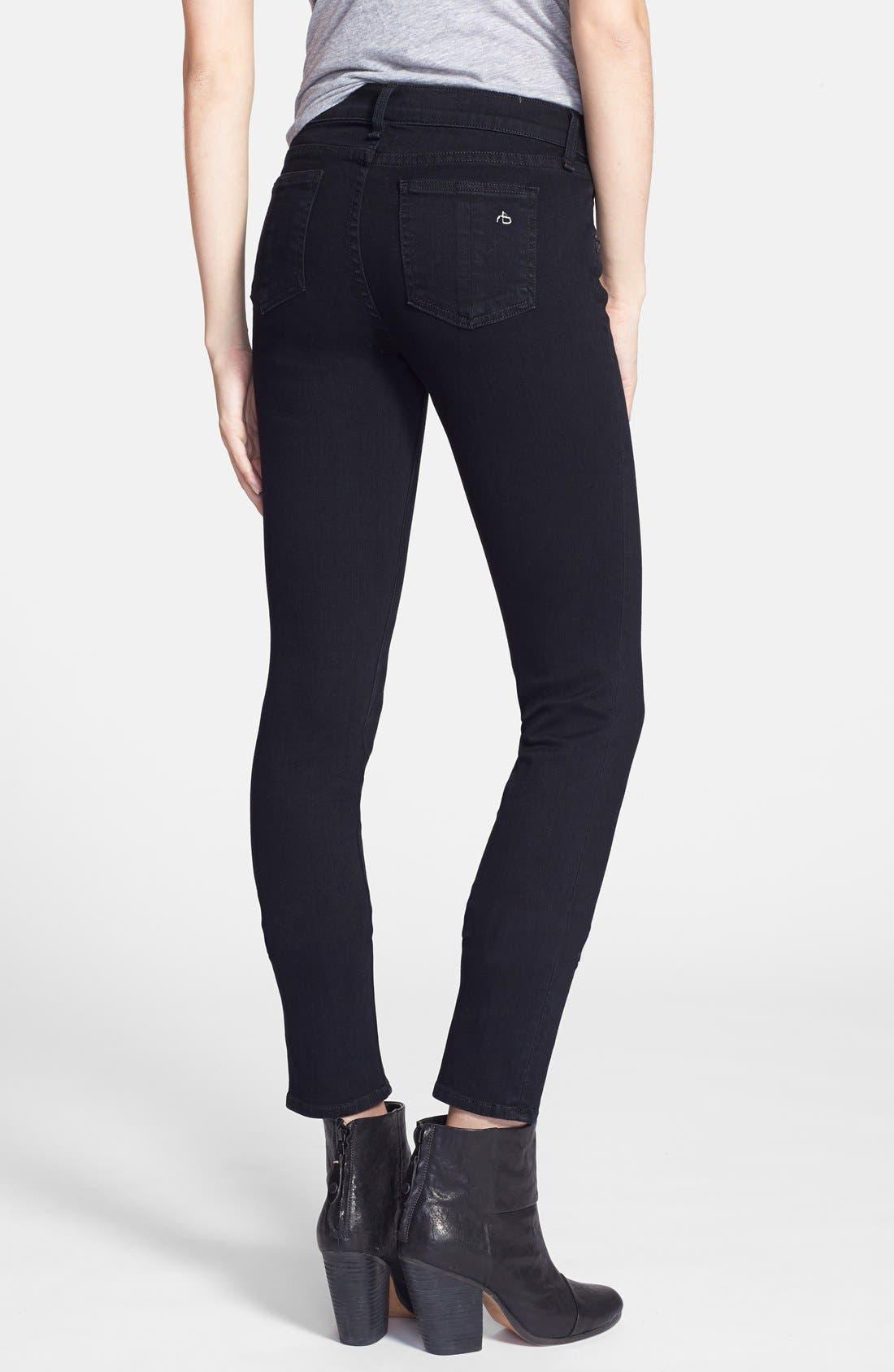 Alternate Image 2  - rag & bone/JEAN 'The Skinny' Stretch Jeans (Coal)