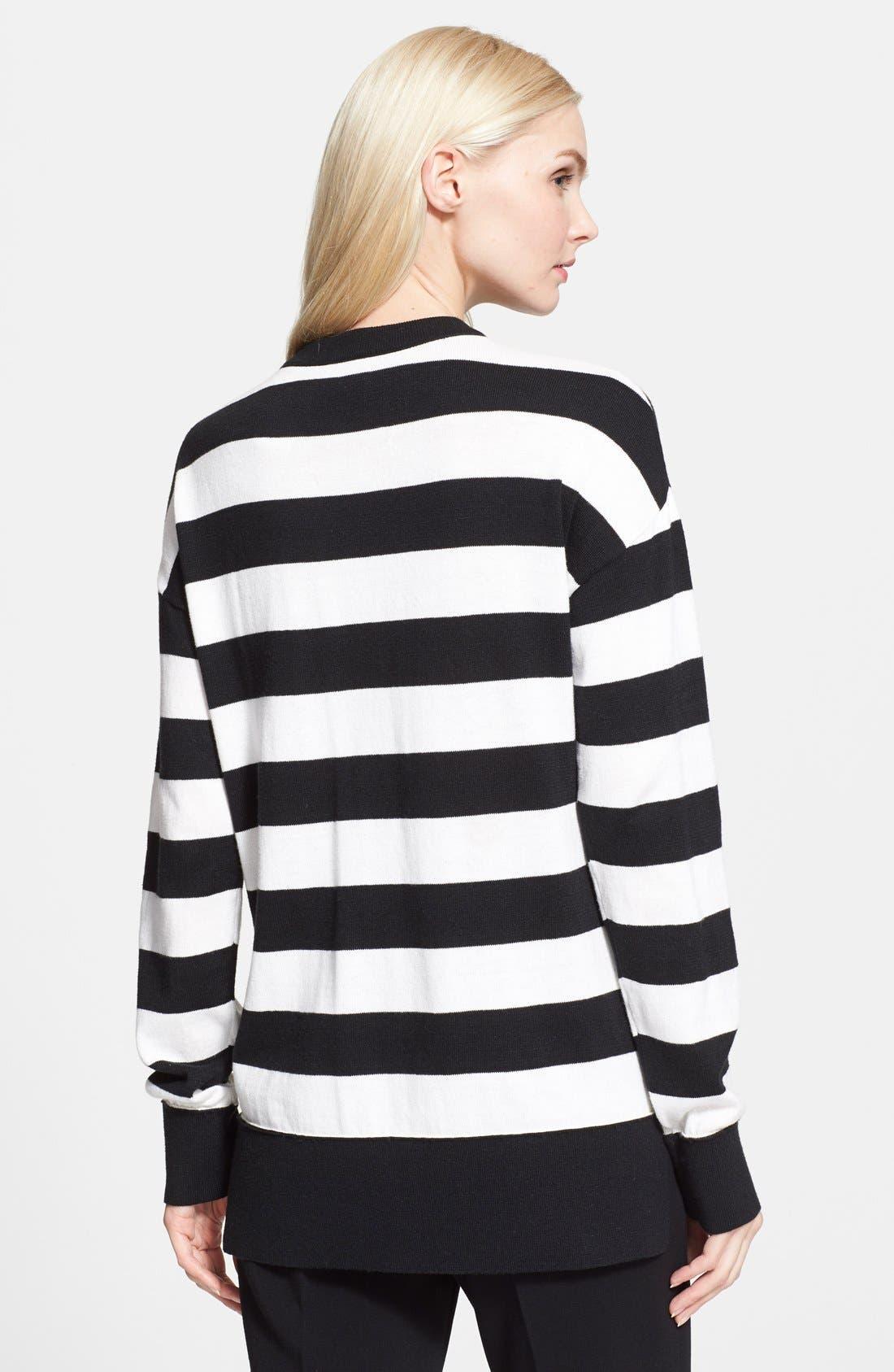 Alternate Image 2  - kate spade new york heart stripe intarsia knit sweater