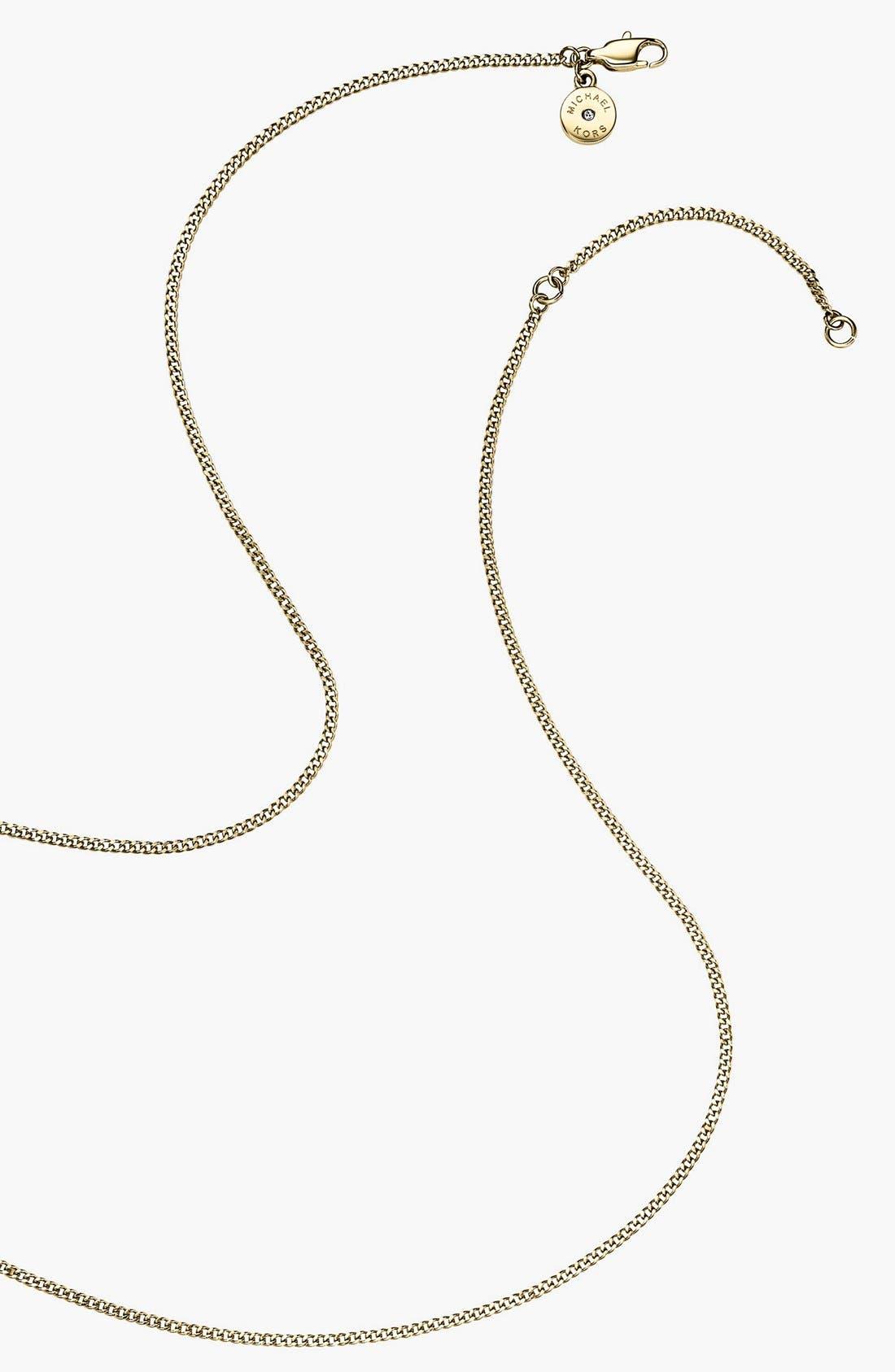 Alternate Image 3  - Michael Kors Horn Pendant Necklace