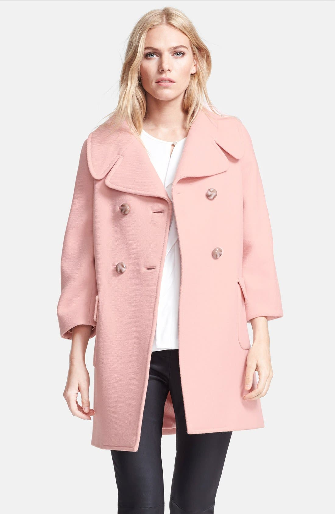 Main Image - kate spade new york 'jacques' double breasted wool coat