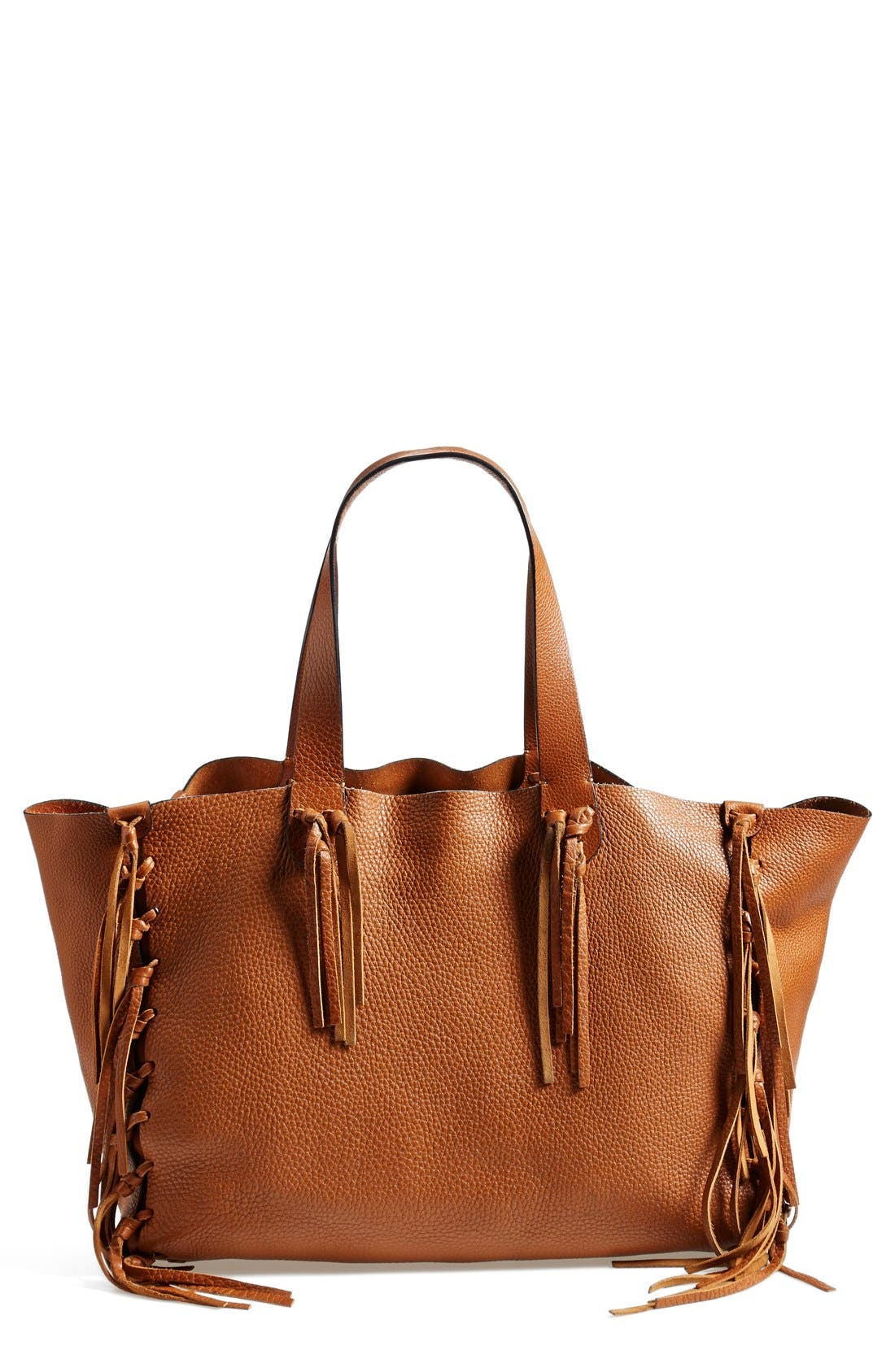 Alternate Image 1 Selected - Valentino 'Crockee' Fringed Leather Tote