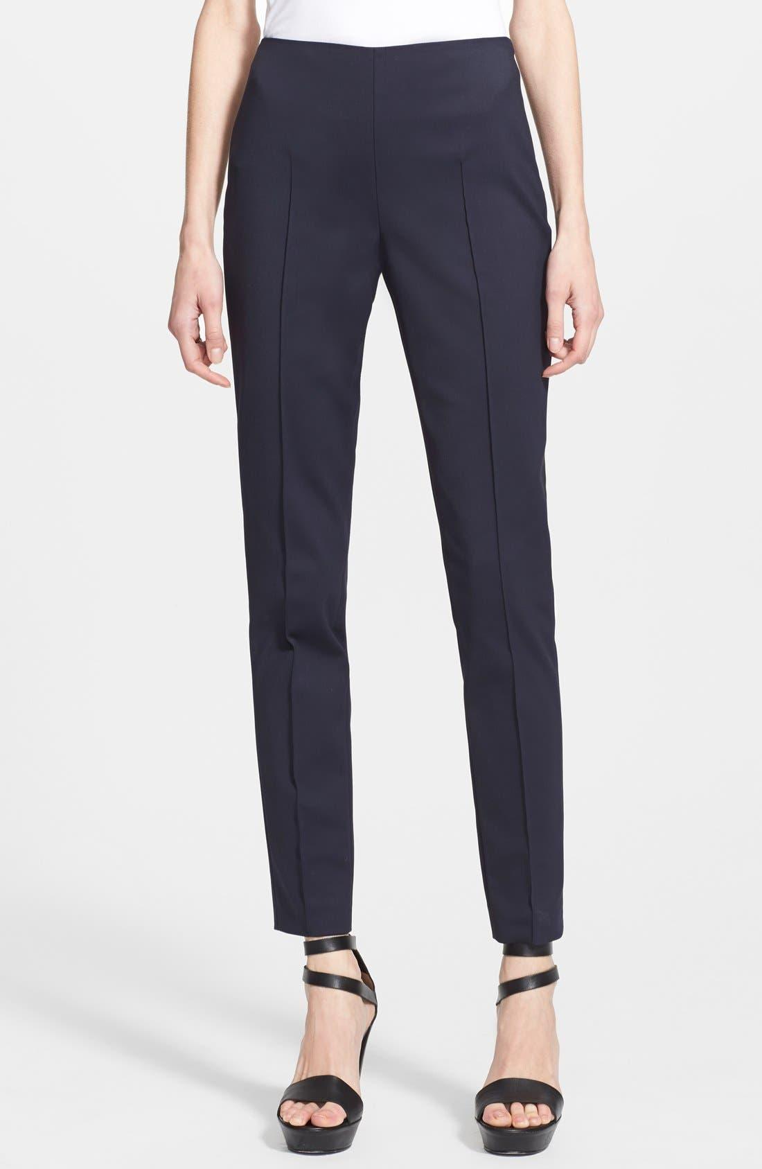 AKRIS 'Melissa' Slim Techno Cotton Ankle Pants