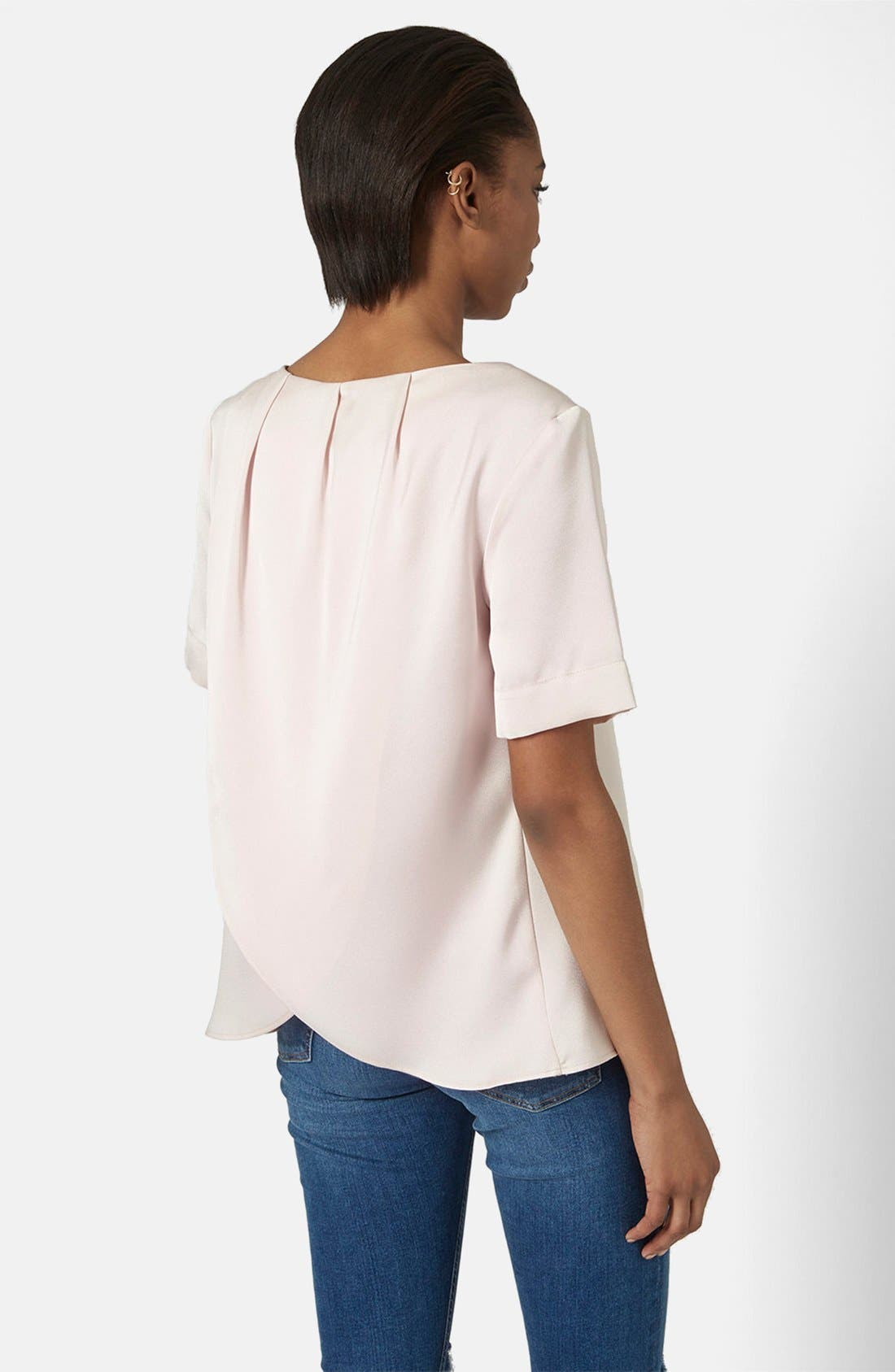 Alternate Image 3  - Topshop Drape Back Tee