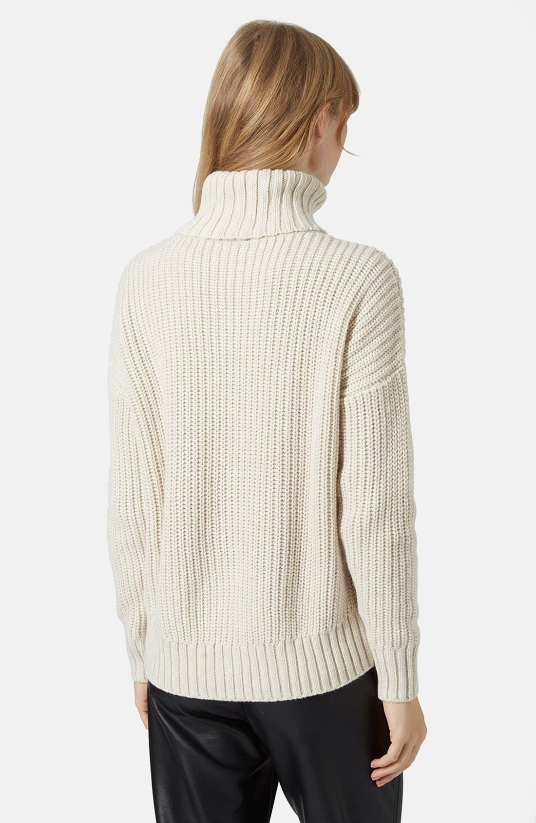 Alternate Image 2  - Topshop Chunky Ribbed Turtleneck Sweater