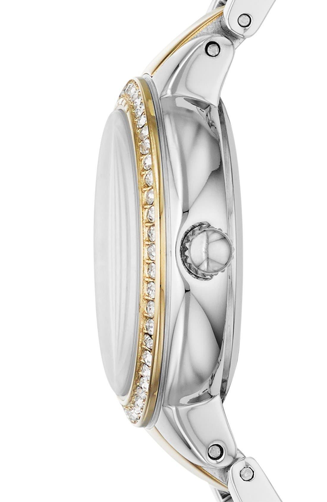 Alternate Image 3  - Fossil 'Virginia' Crystal Bezel Bracelet Watch, 34mm