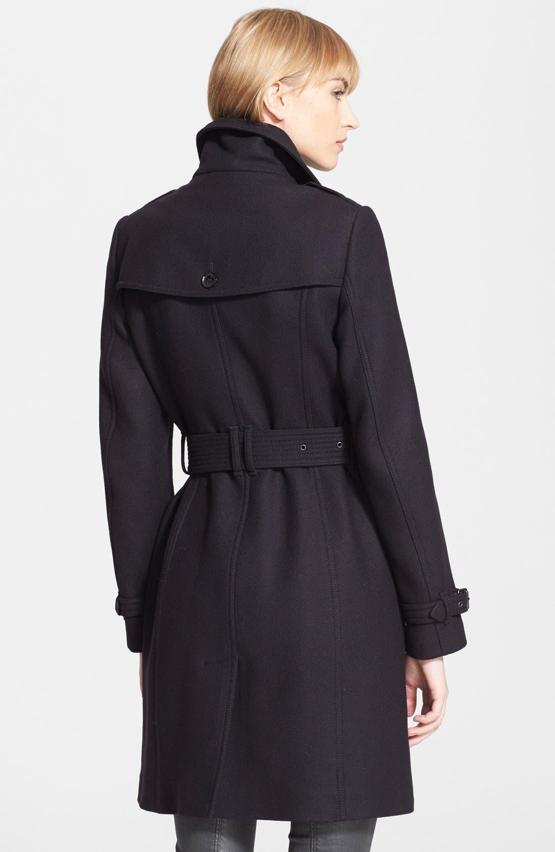 Alternate Image 2  - Burberry Brit 'Rushfield' Wool Blend Stand Collar Coat