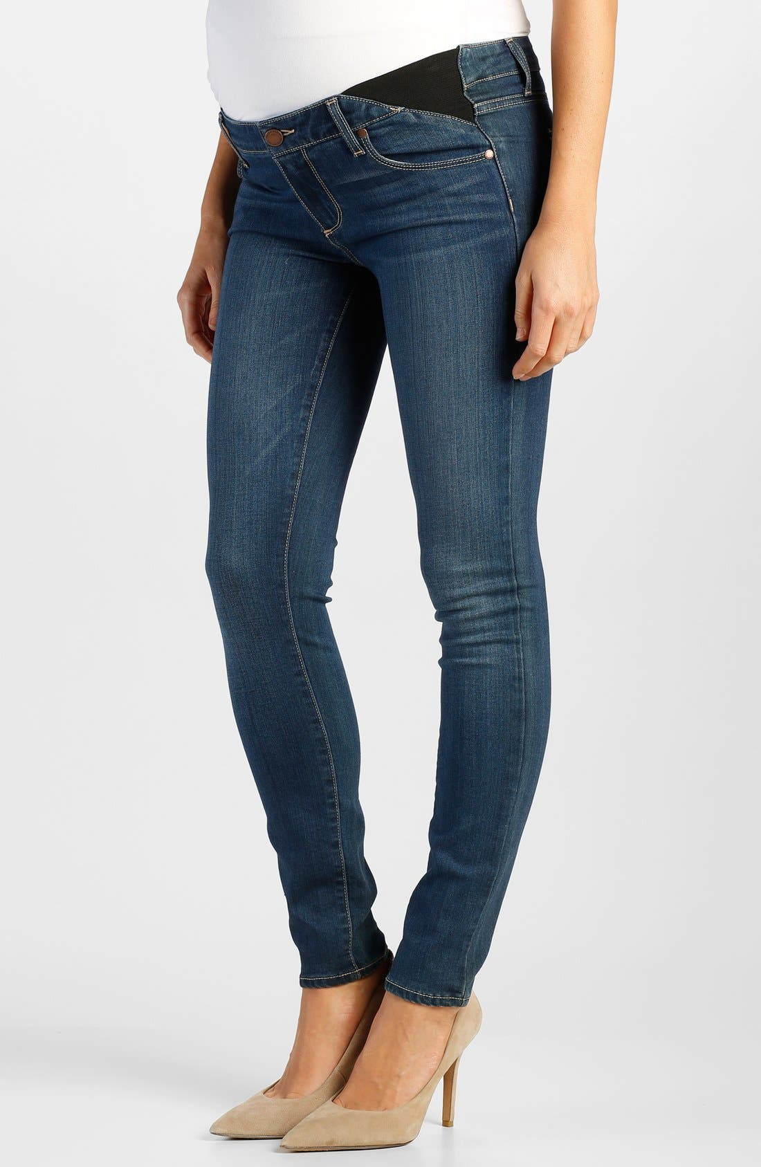 Main Image - Paige Denim 'Transcend - Verdugo' Maternity Ankle Jeans with Side Gussets (Lex)