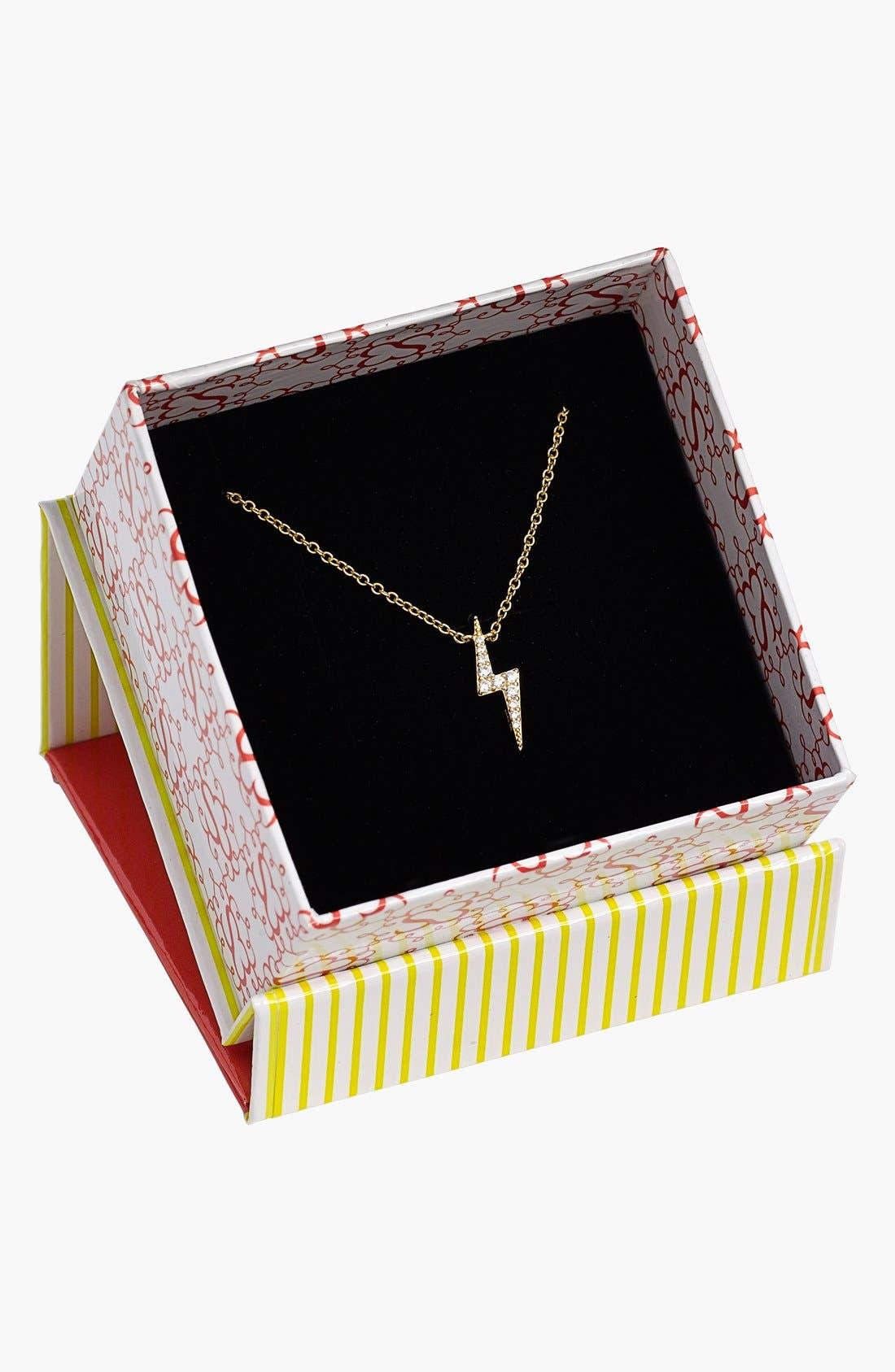 Alternate Image 3  - Sugar Bean Jewelry Lightning Bolt Pendant Necklace