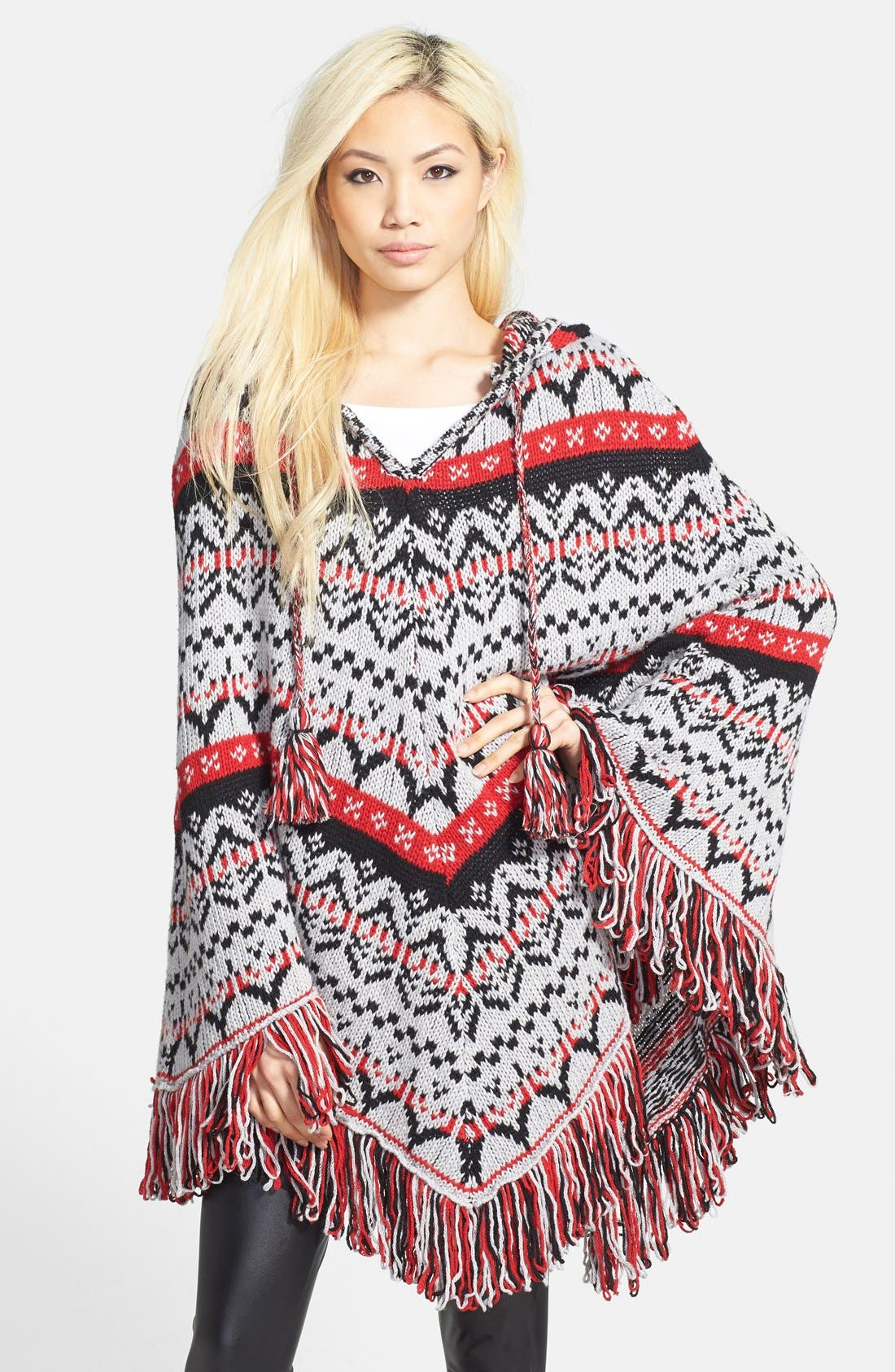 Alternate Image 1 Selected - Glamorous Hooded Poncho